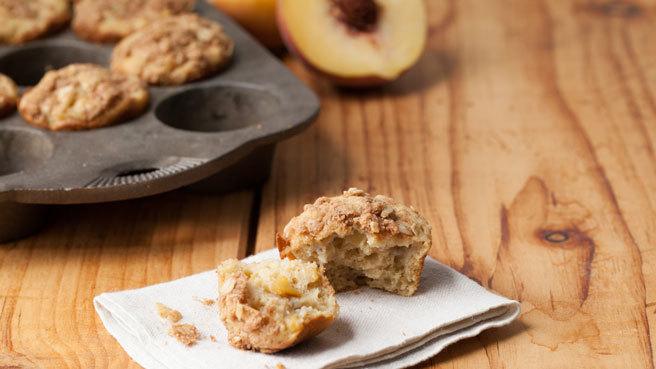 Peach Crumble Muffins Trusted Brands
