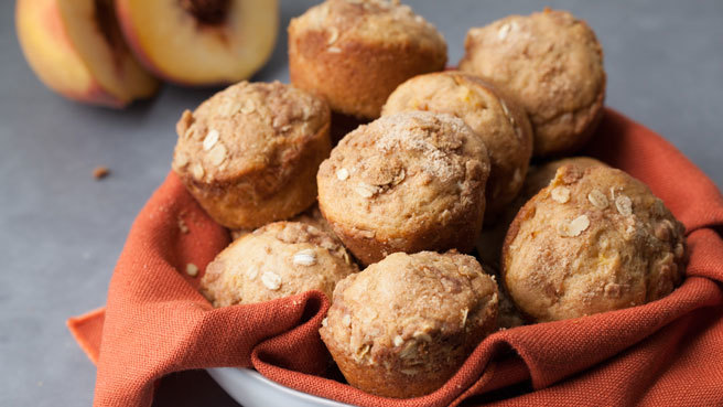 Gluten-Free Peach Crumble Muffins Trusted Brands