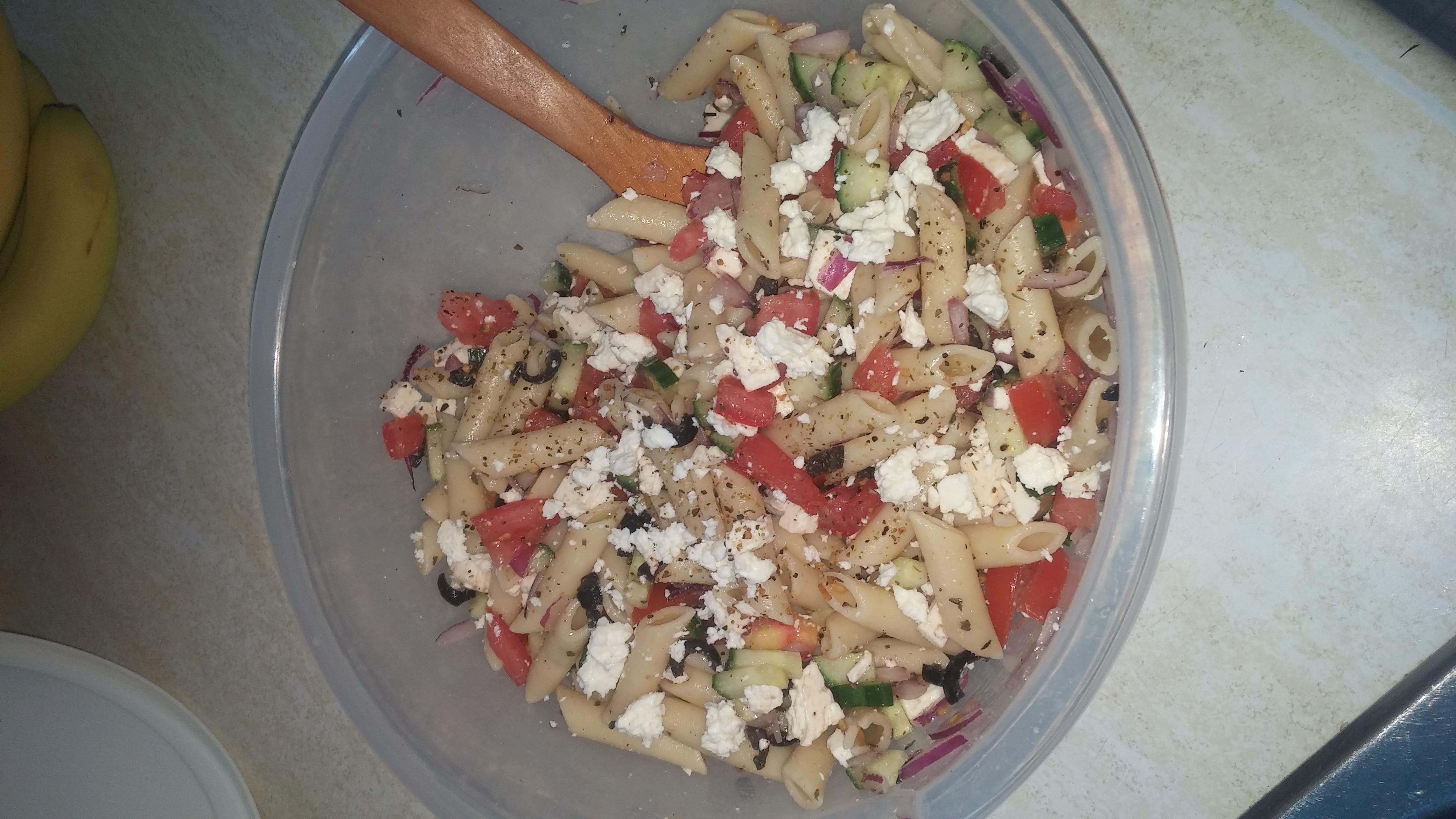 Vegetarian Greek Pasta Salad Tonya Young