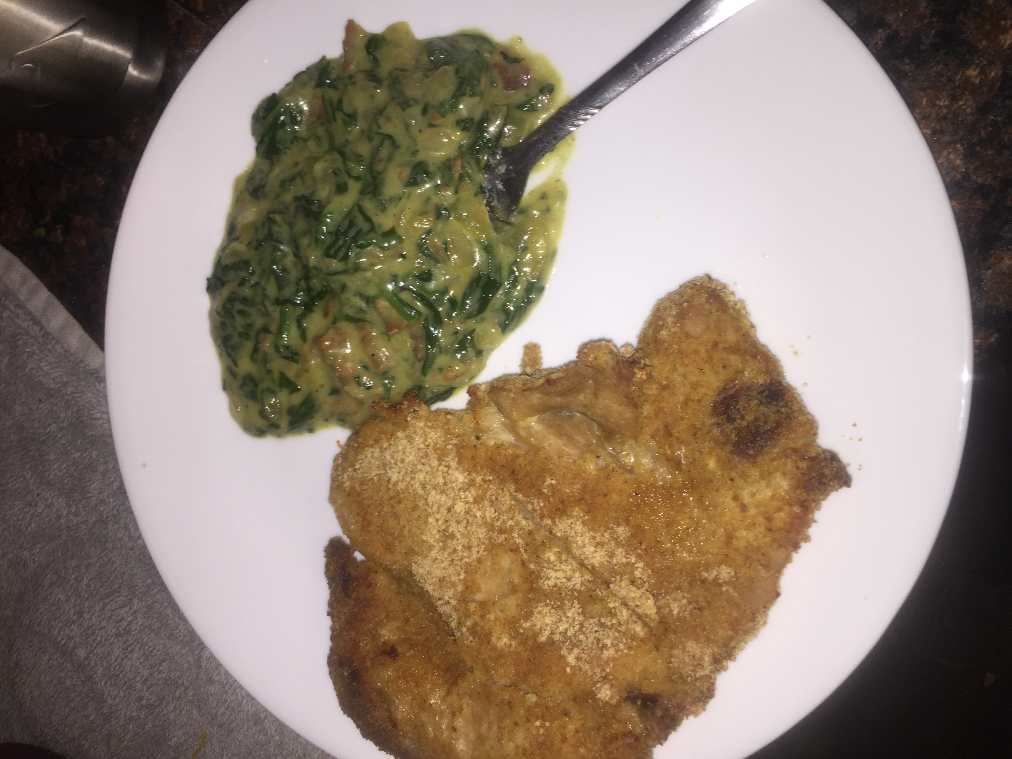 Creamed Spinach with Onions and Bacon Emily Russell