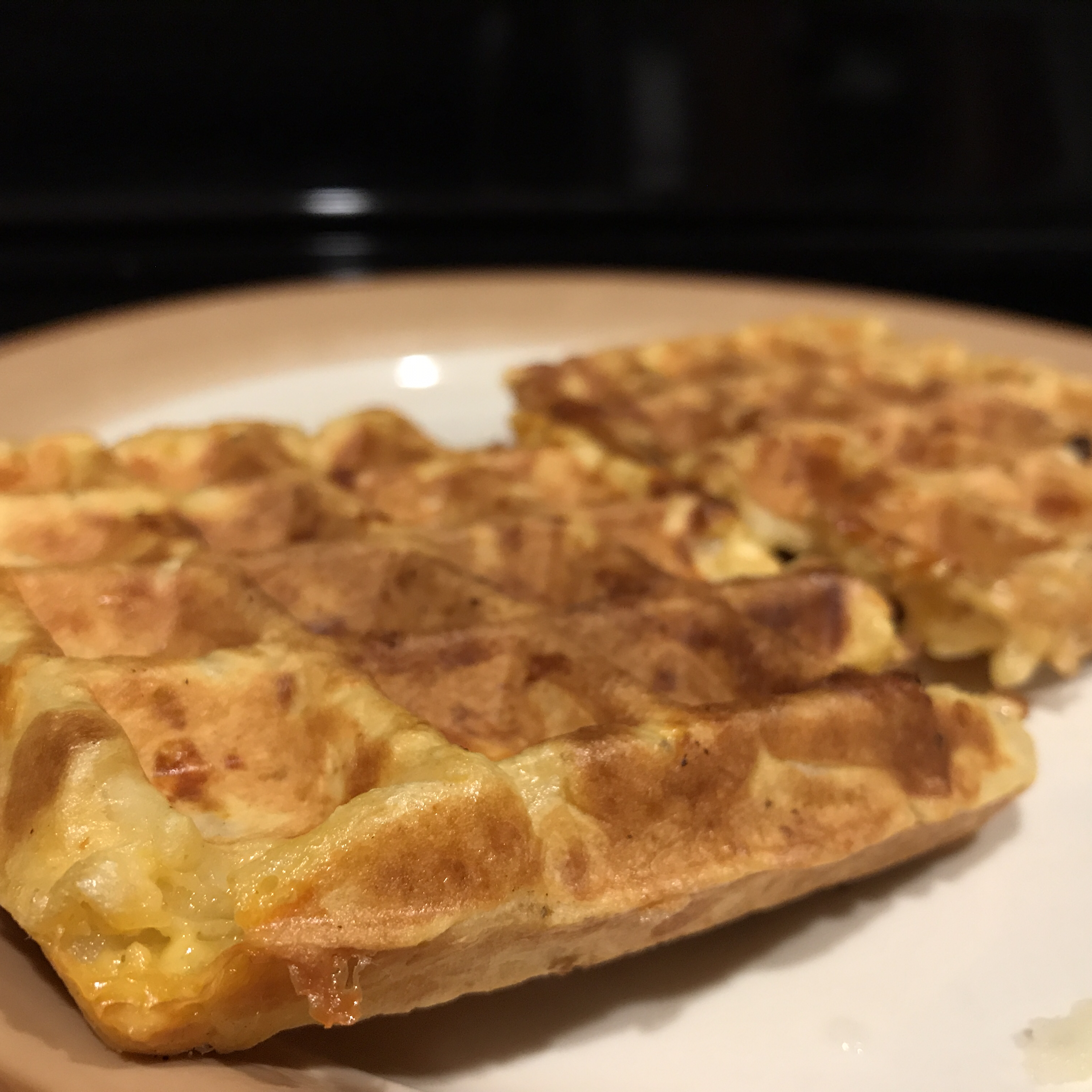 Kitchen Sink Hash Brown and Egg Waffle Dale Tunender