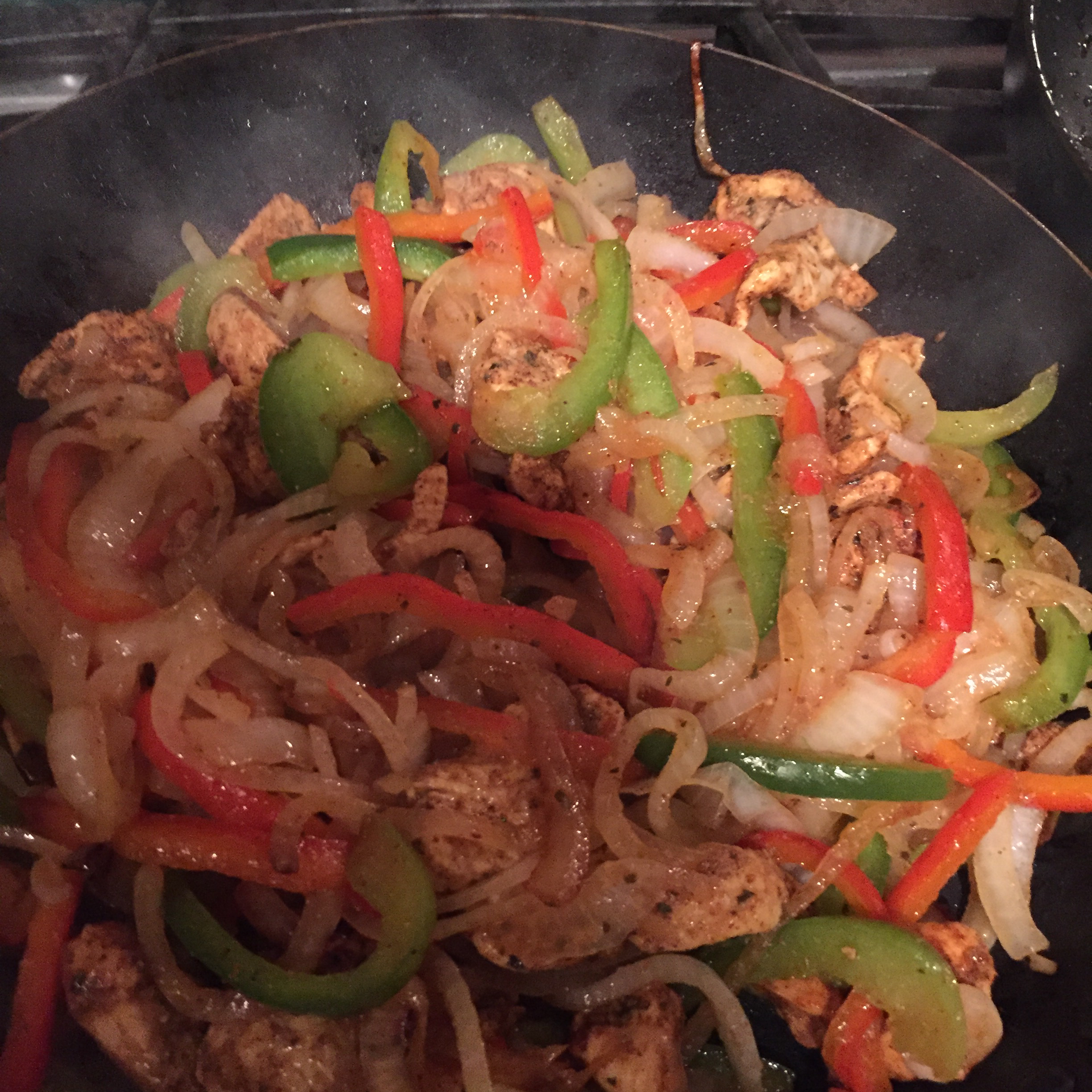 Easy Chicken and Bell Pepper Fajitas LaurieJ
