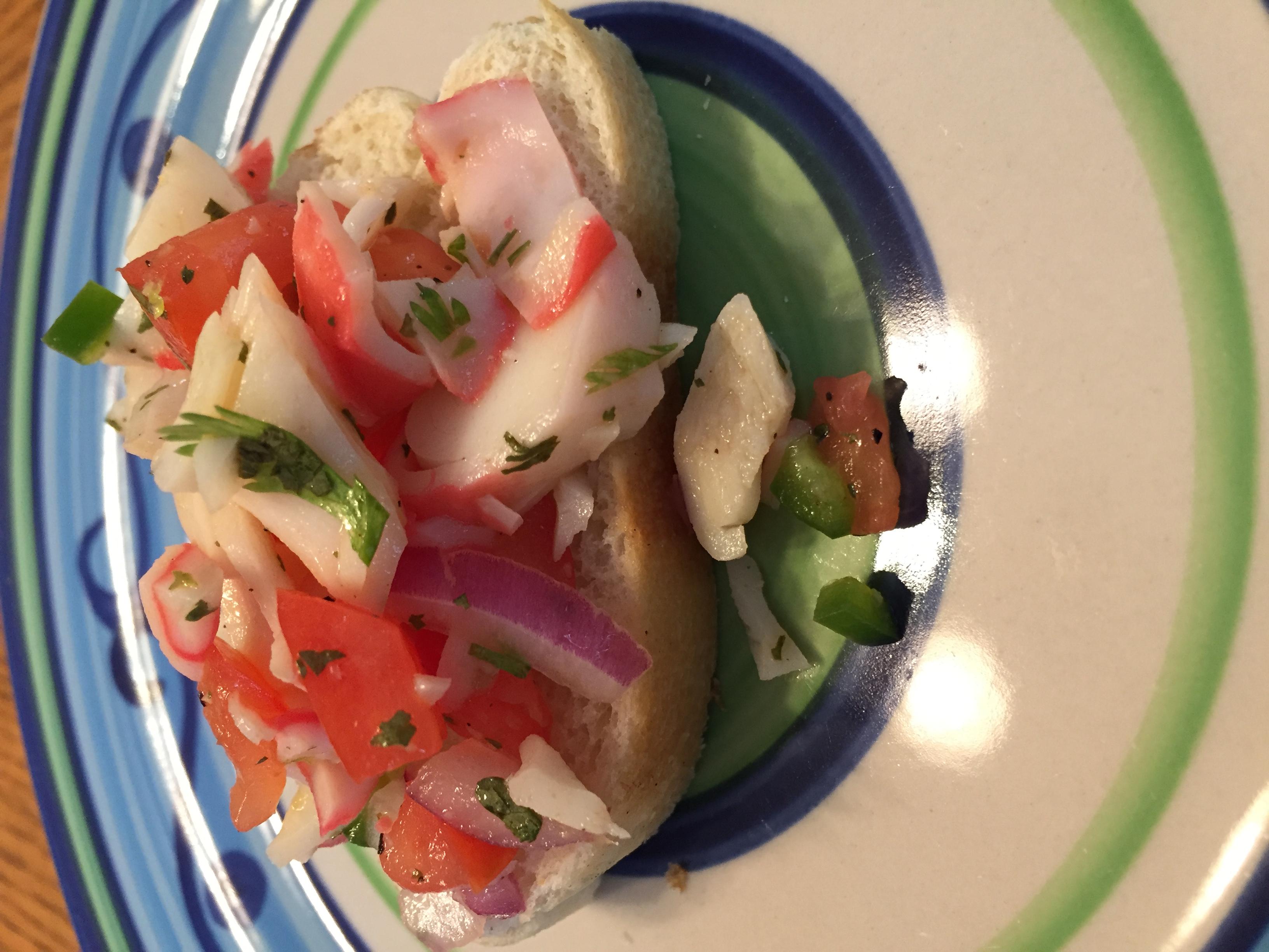 Crab Ceviche tcasa
