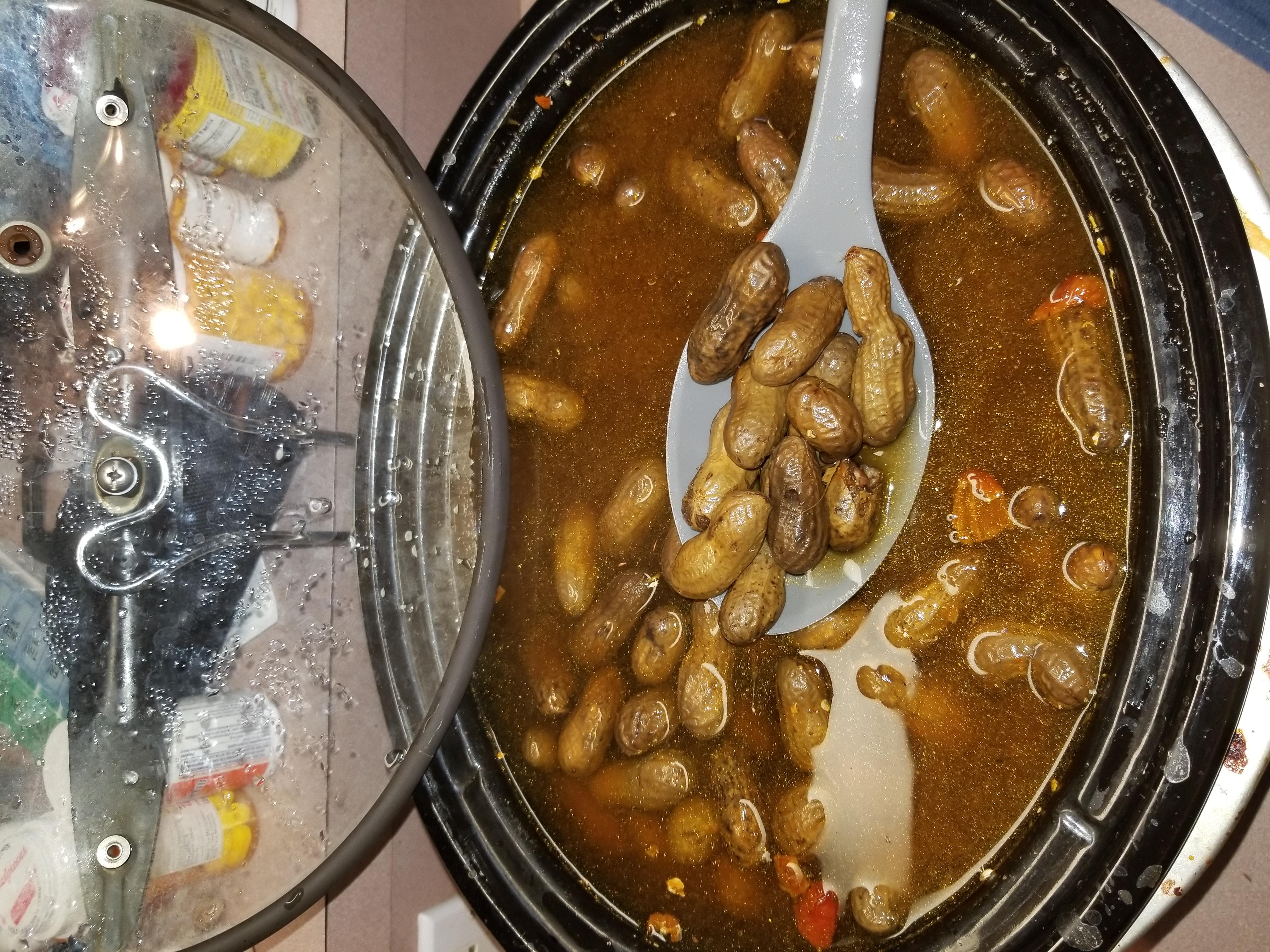 Rachael's Superheated Cajun Boiled Peanuts