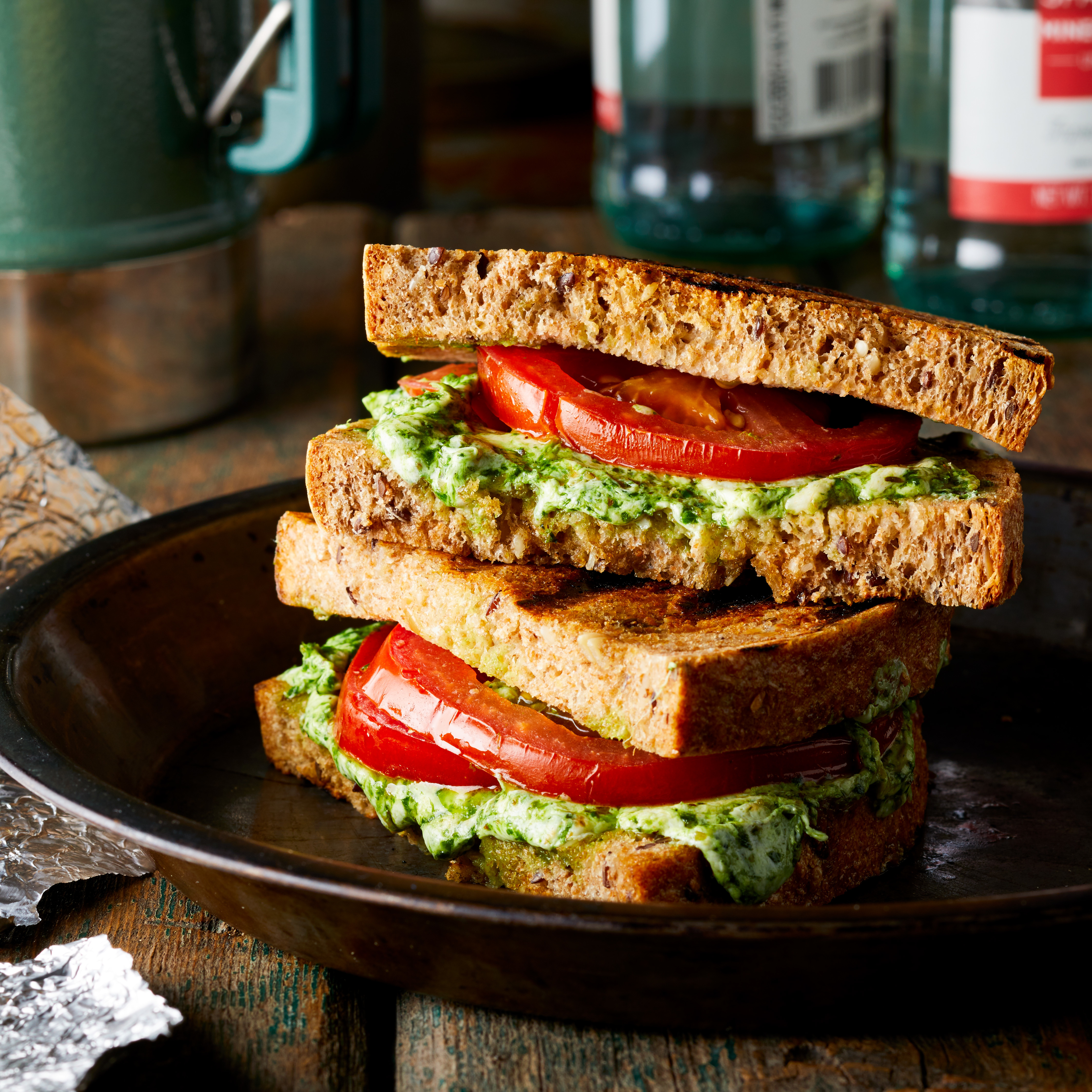 Campfire Caprese Grilled Cheese Trusted Brands