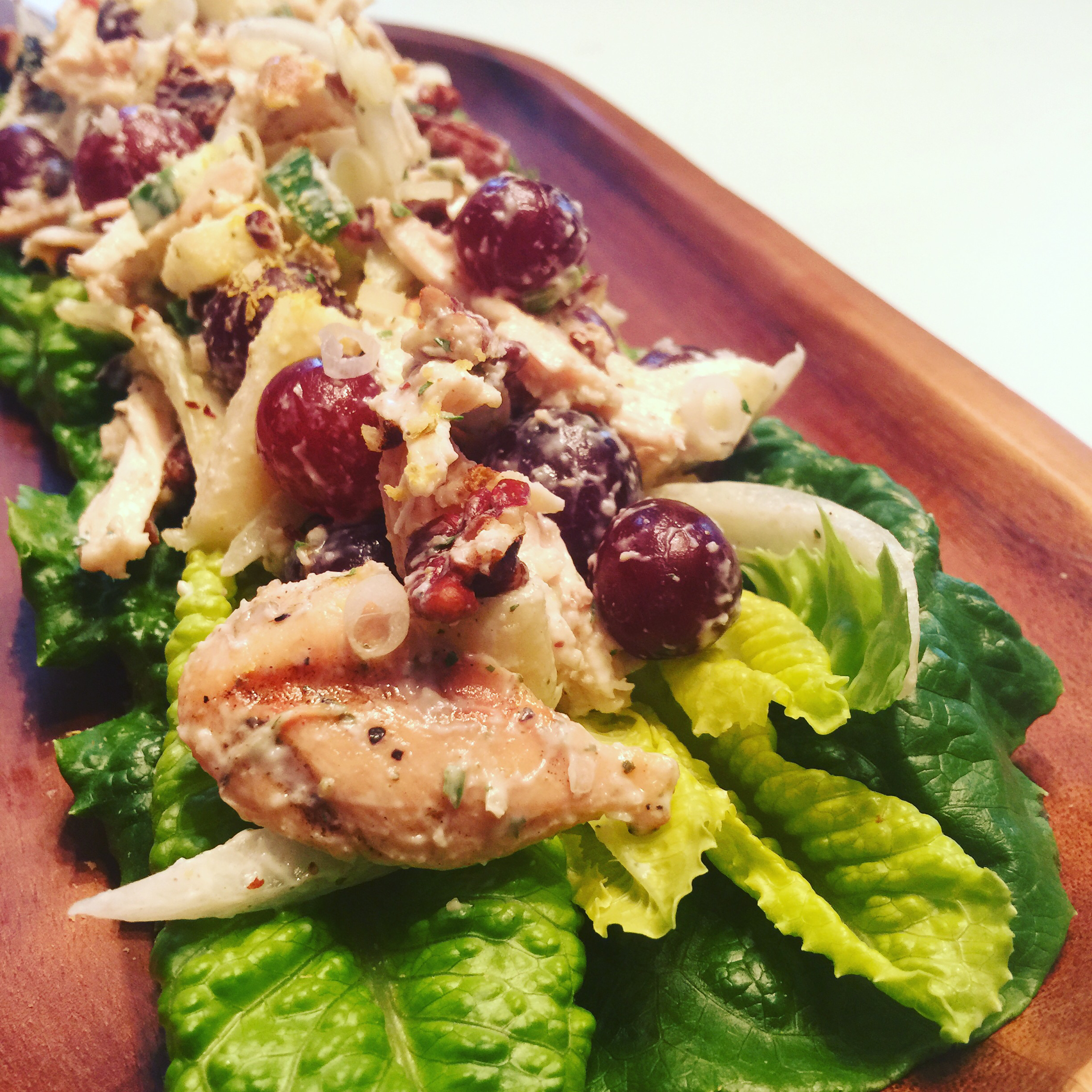 Chicken Salad with Apples, Grapes, and Walnuts