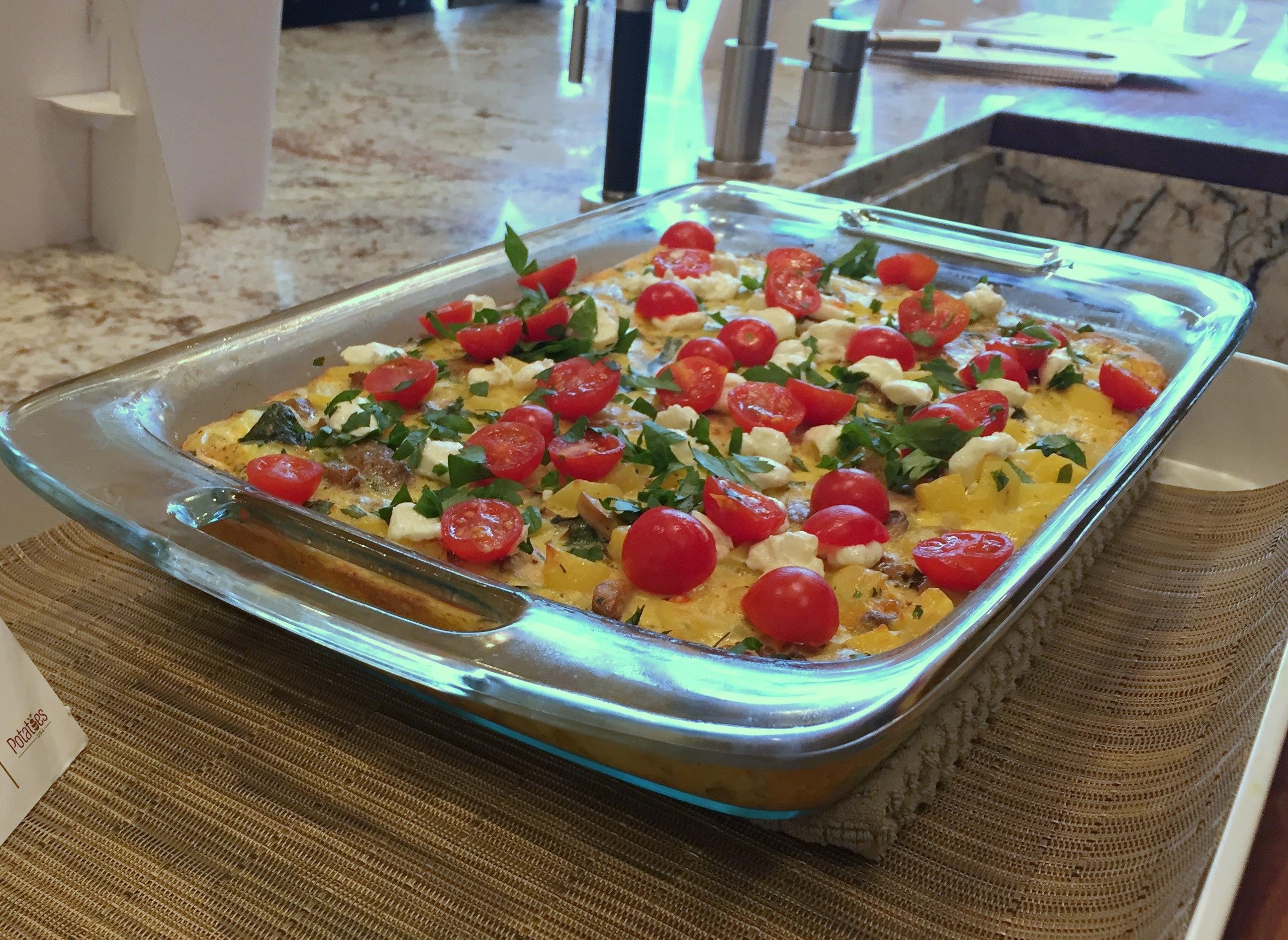 Italian Breakfast Potato Bake