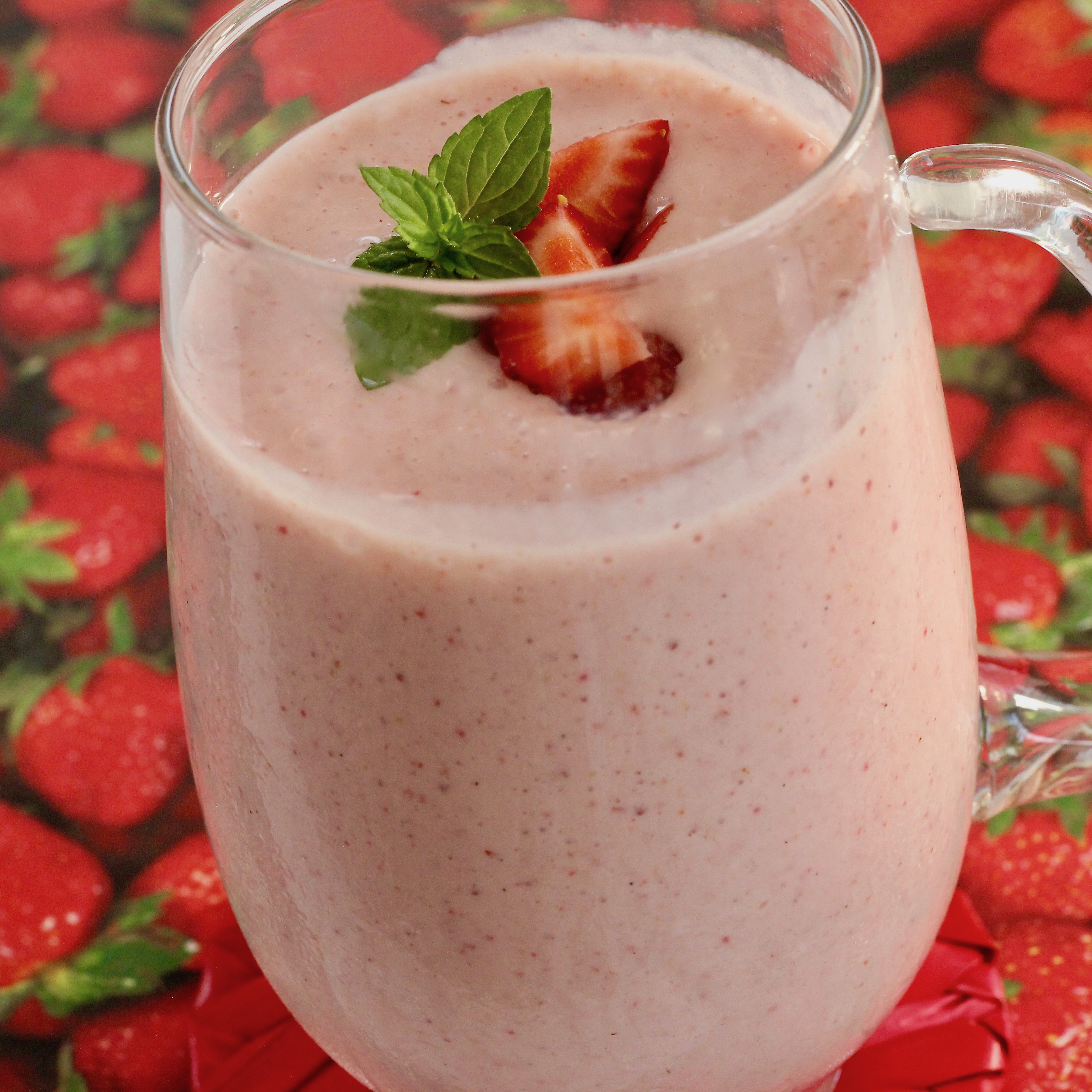 Serena's Strawberry Lassi