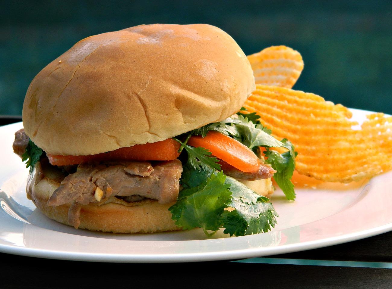 Soy-Marinated Pork Sandwiches