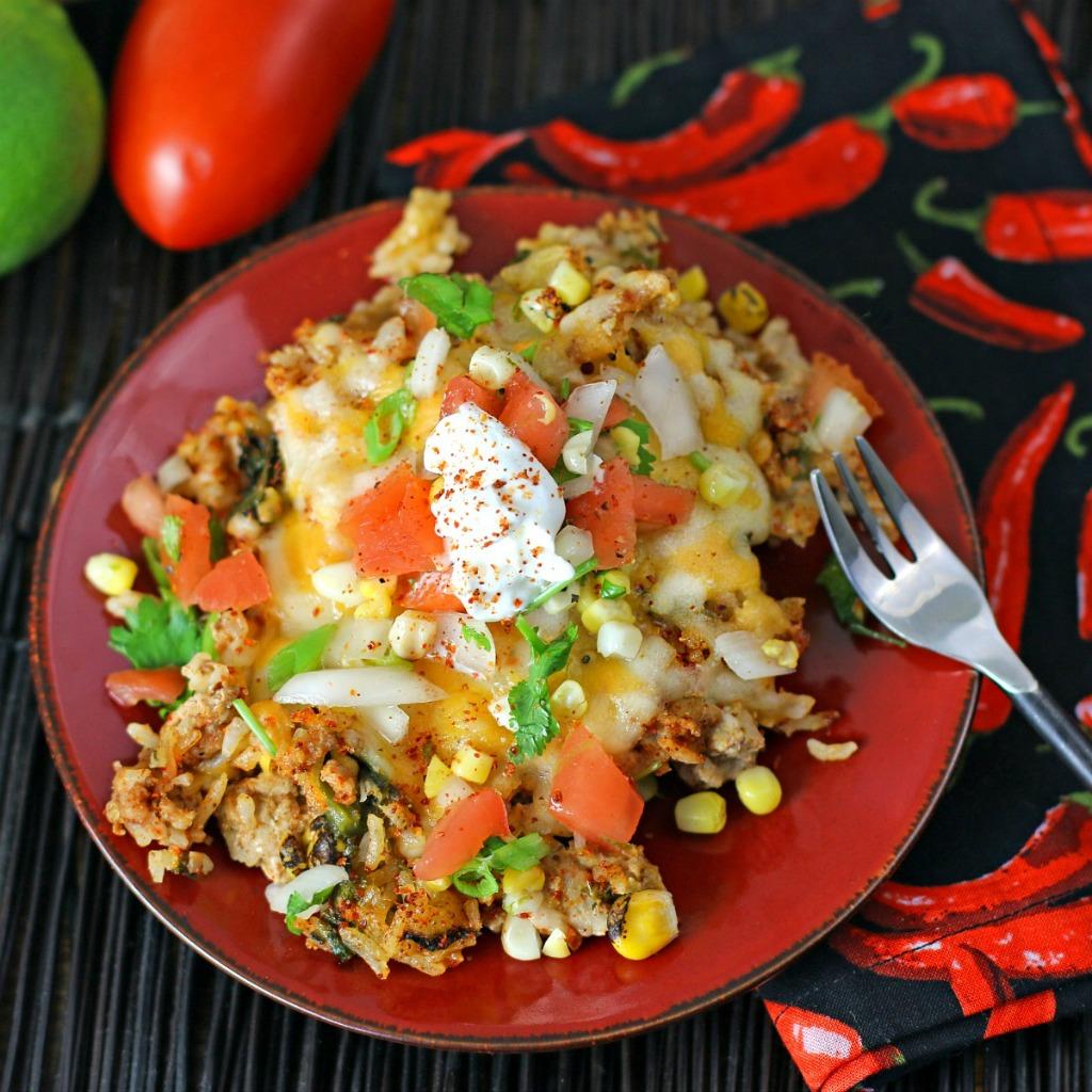 Cheesy Pork Taco Rice