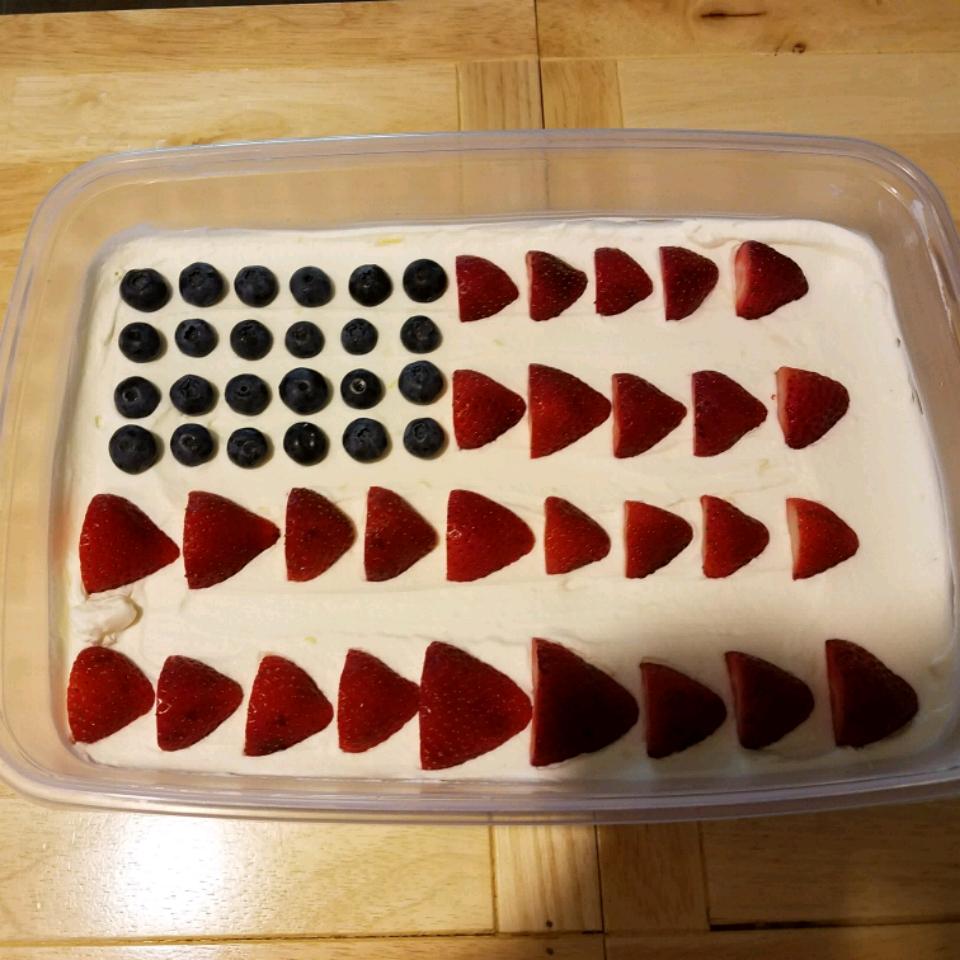 No-Bake Cheesecake Flag Cake Jayme Stahl