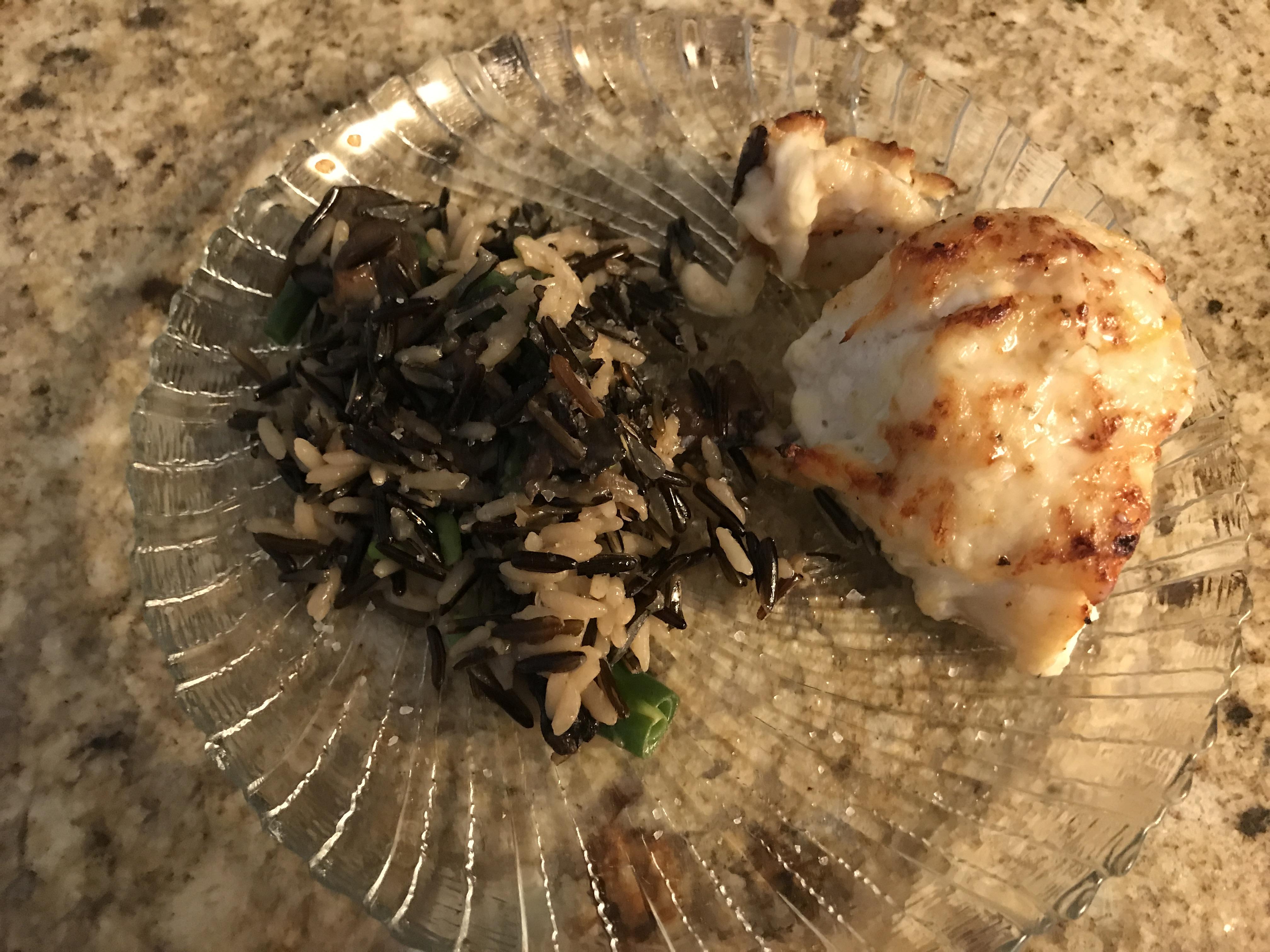 Broiled Grouper Parmesan