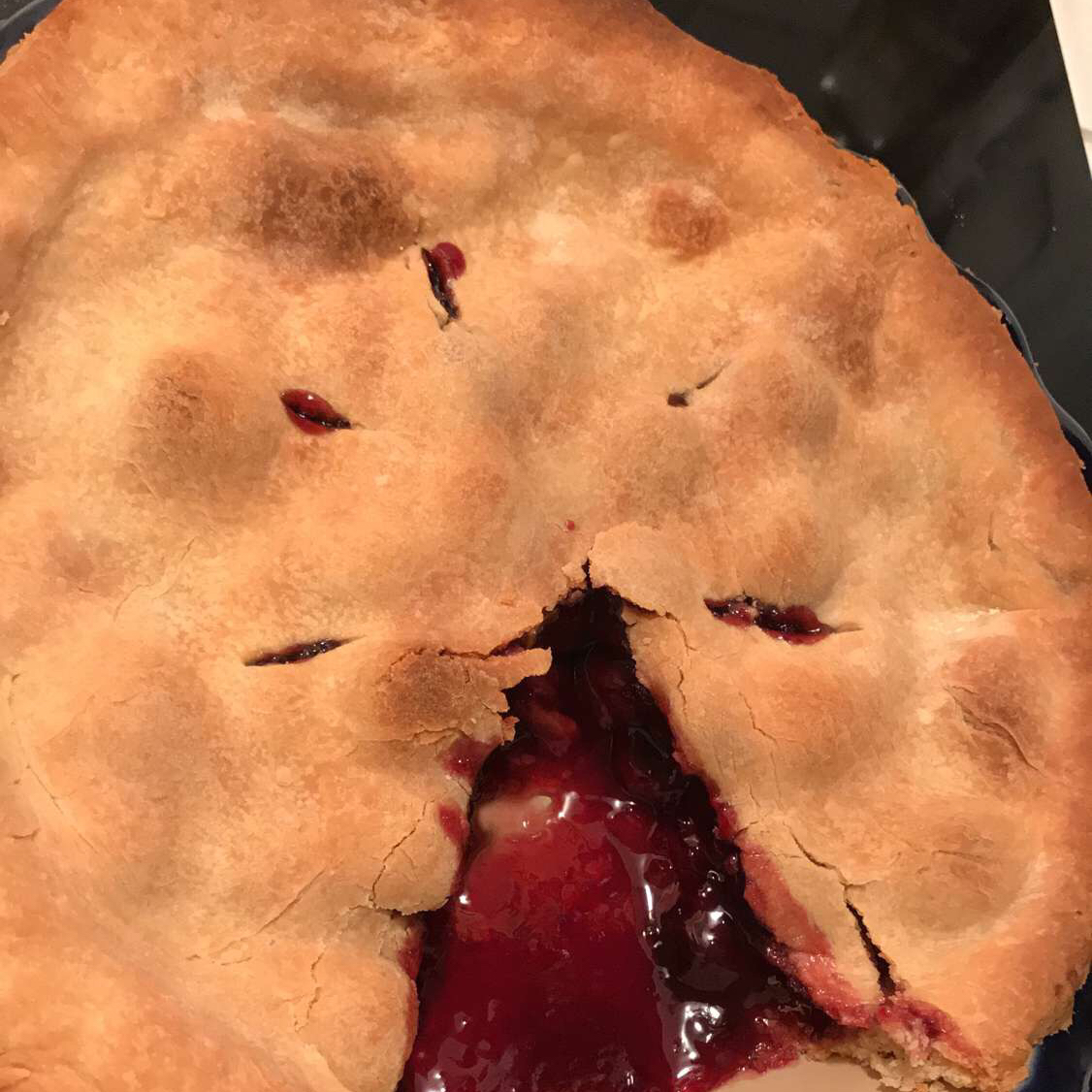 Baked Fresh Cherry Pie Angela Ruffin