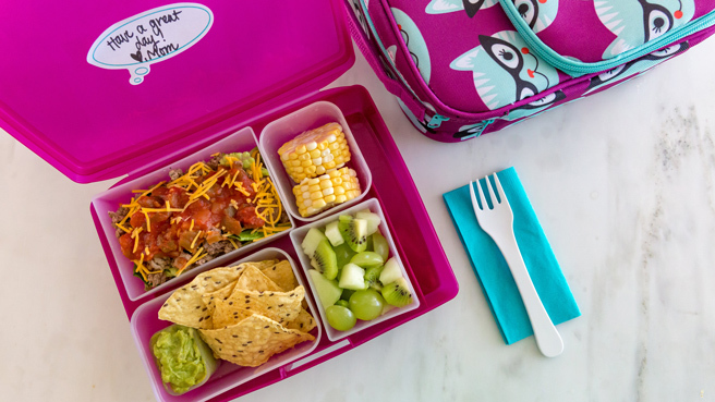 Taco Salad Bento Lunch for Kids Trusted Brands