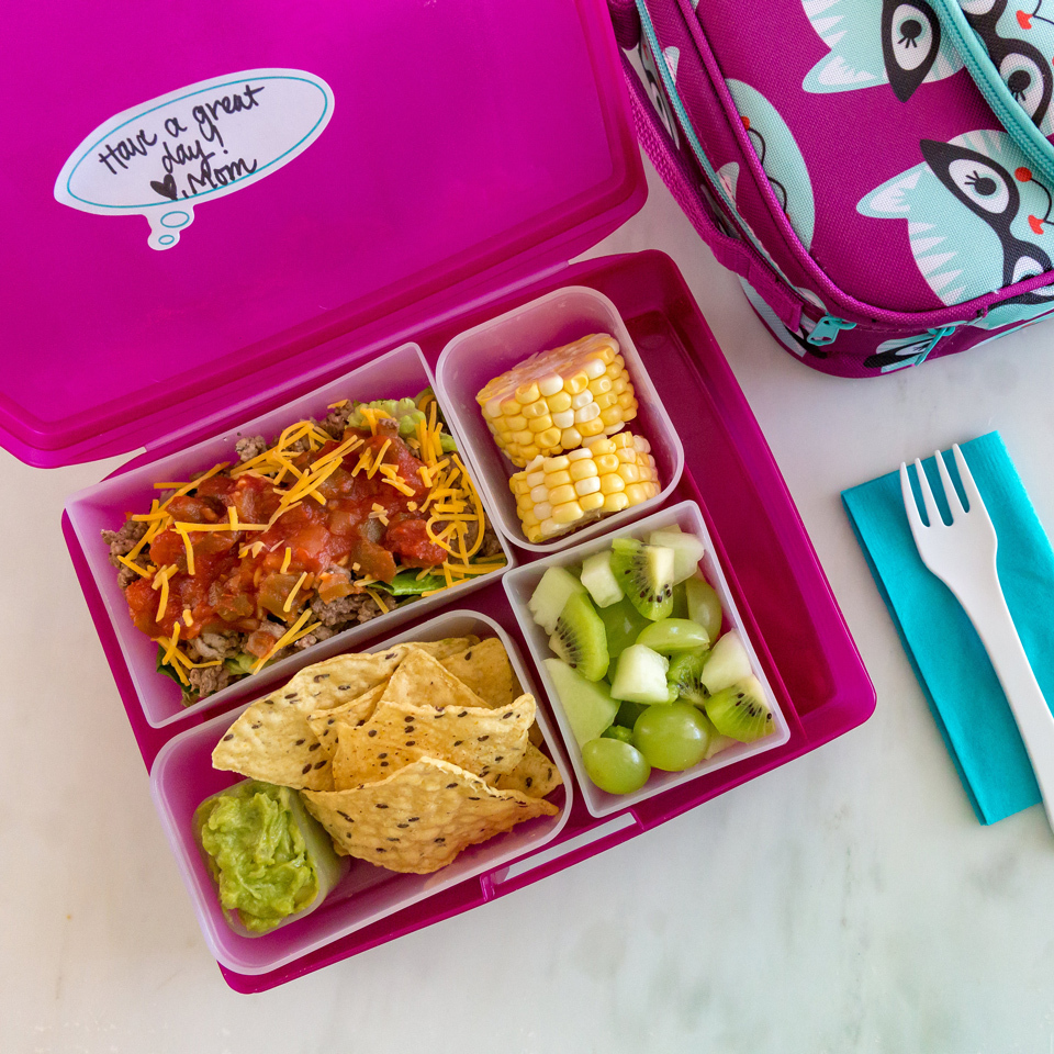 Taco Salad Bento Lunch for Kids Holley Grainger, M.S., R.D.N.