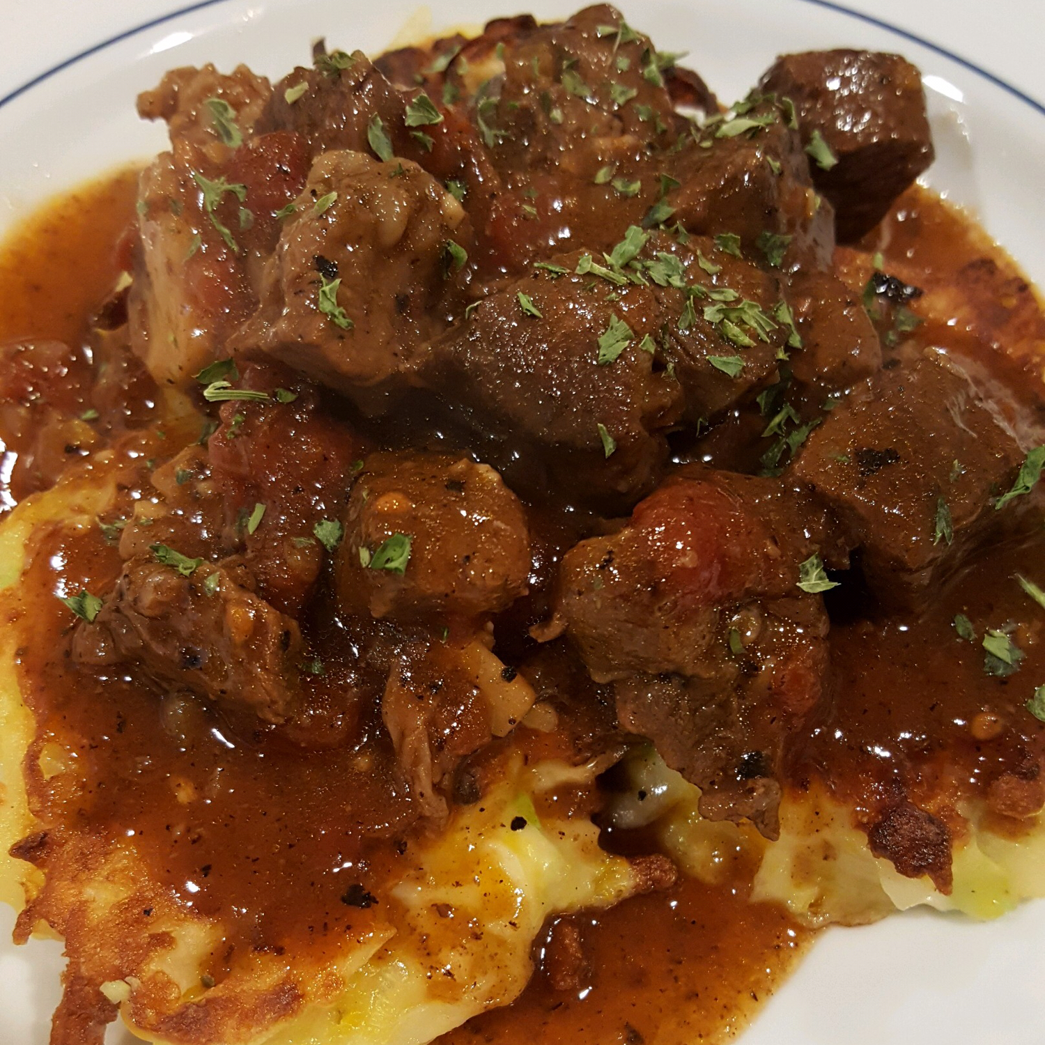 Braised Beef with Shallots and Mushrooms Aaron A