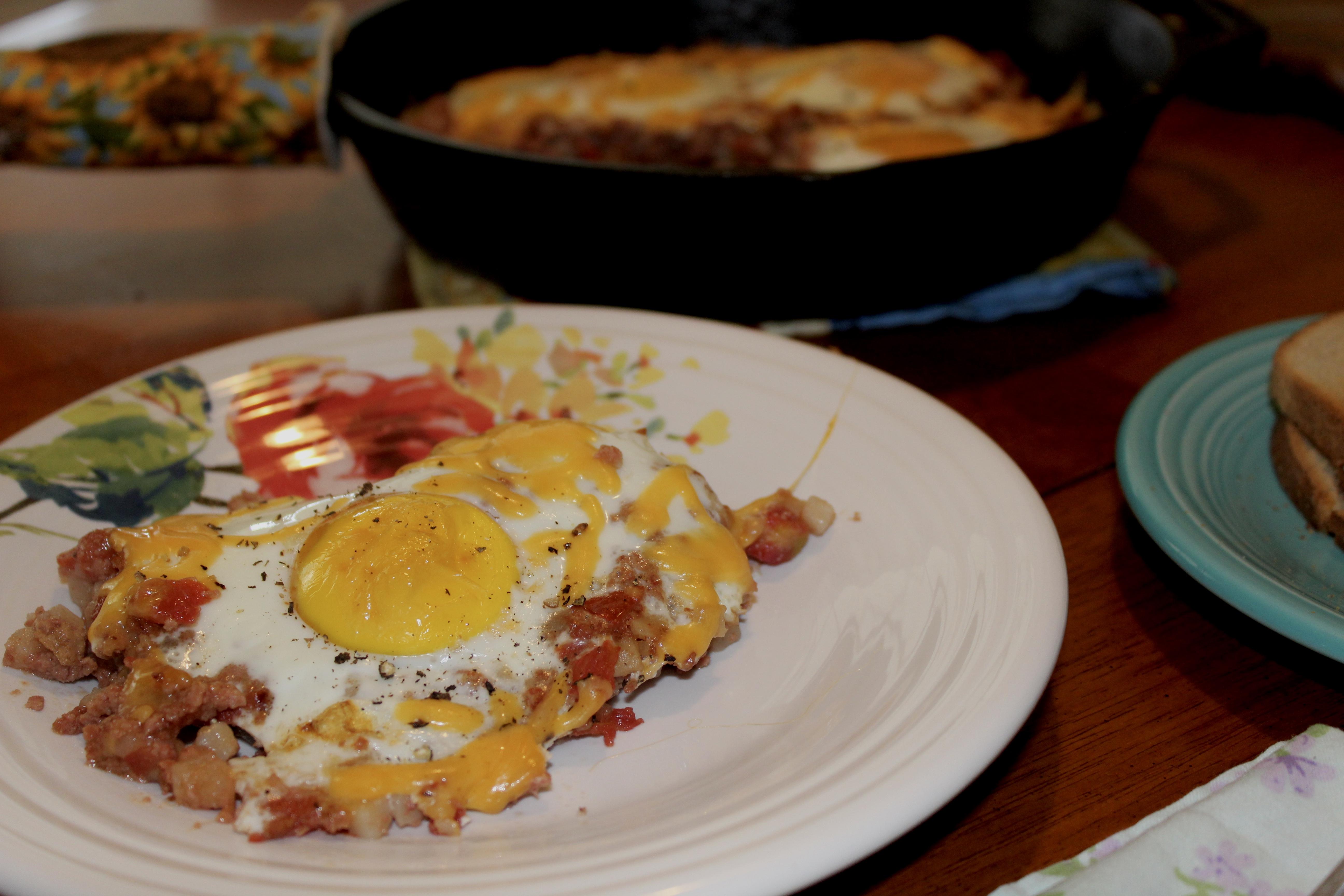 One Skillet Corned Beef Hash Breakfast