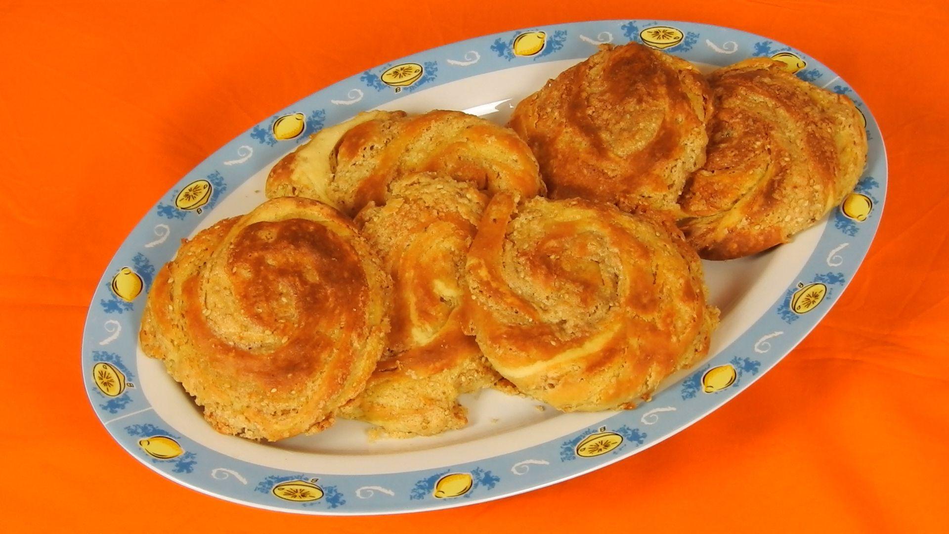 Cypriot Tahini Pies with Orange Flavor