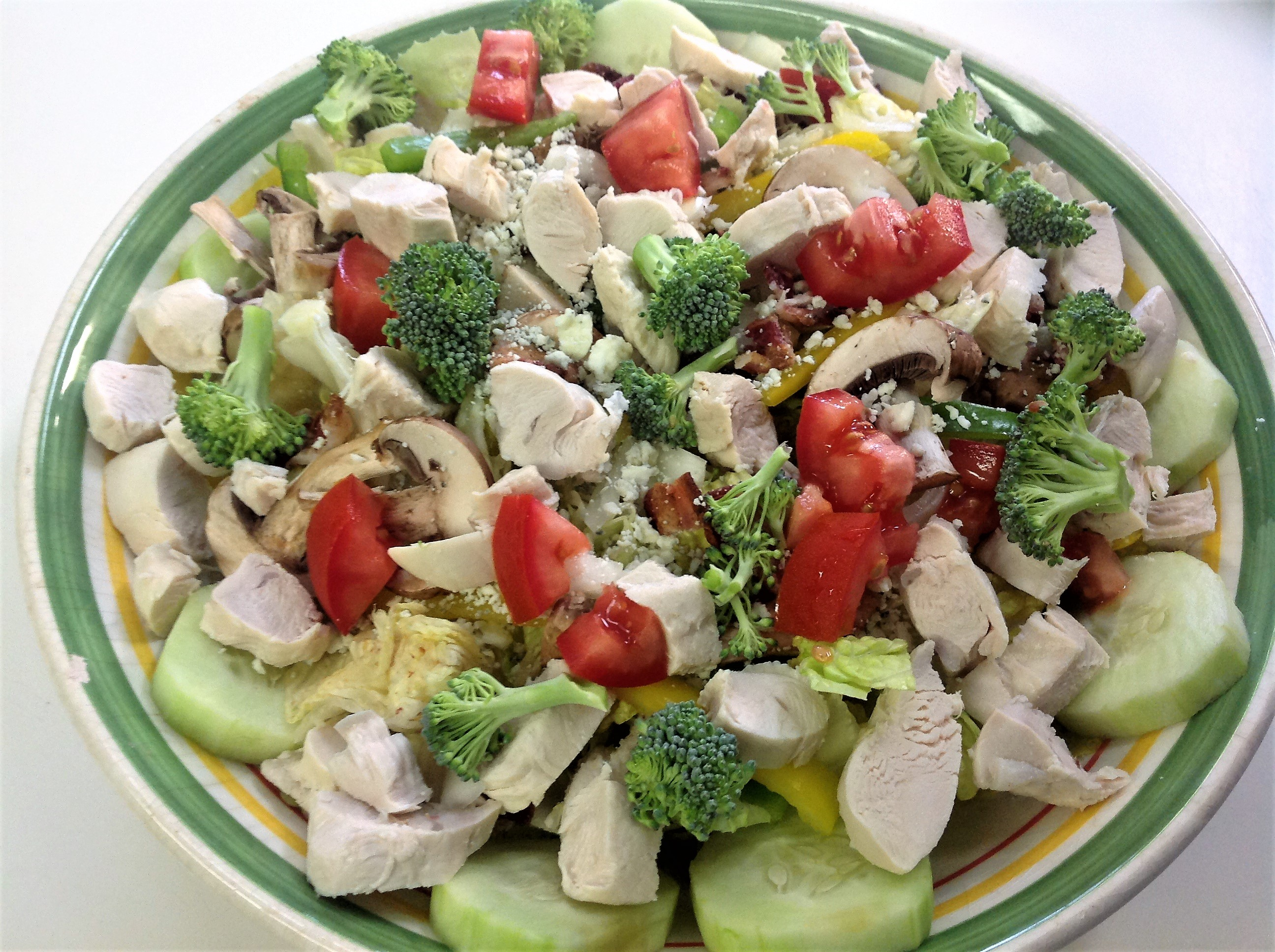 Grilled Chicken, Tomato and Baby Greens Salad with Blue Cheese James
