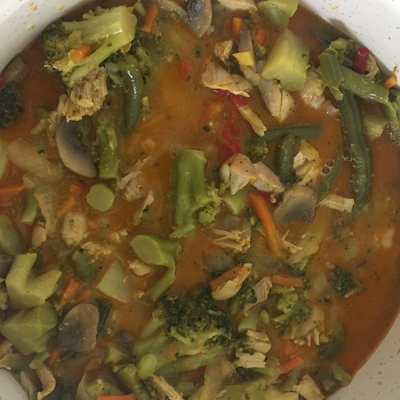 Paleo Coconut Curry Stir Fry jd20009