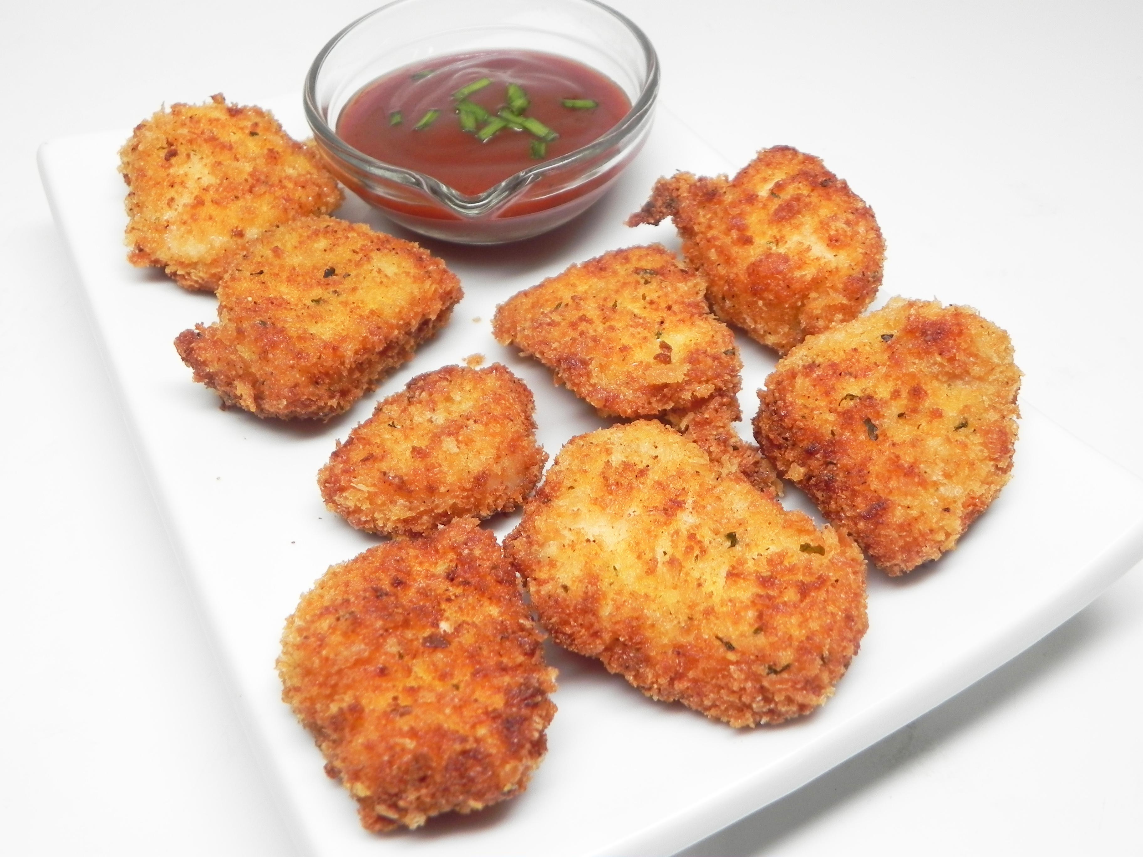 Parmesan Panko Chicken Poppers