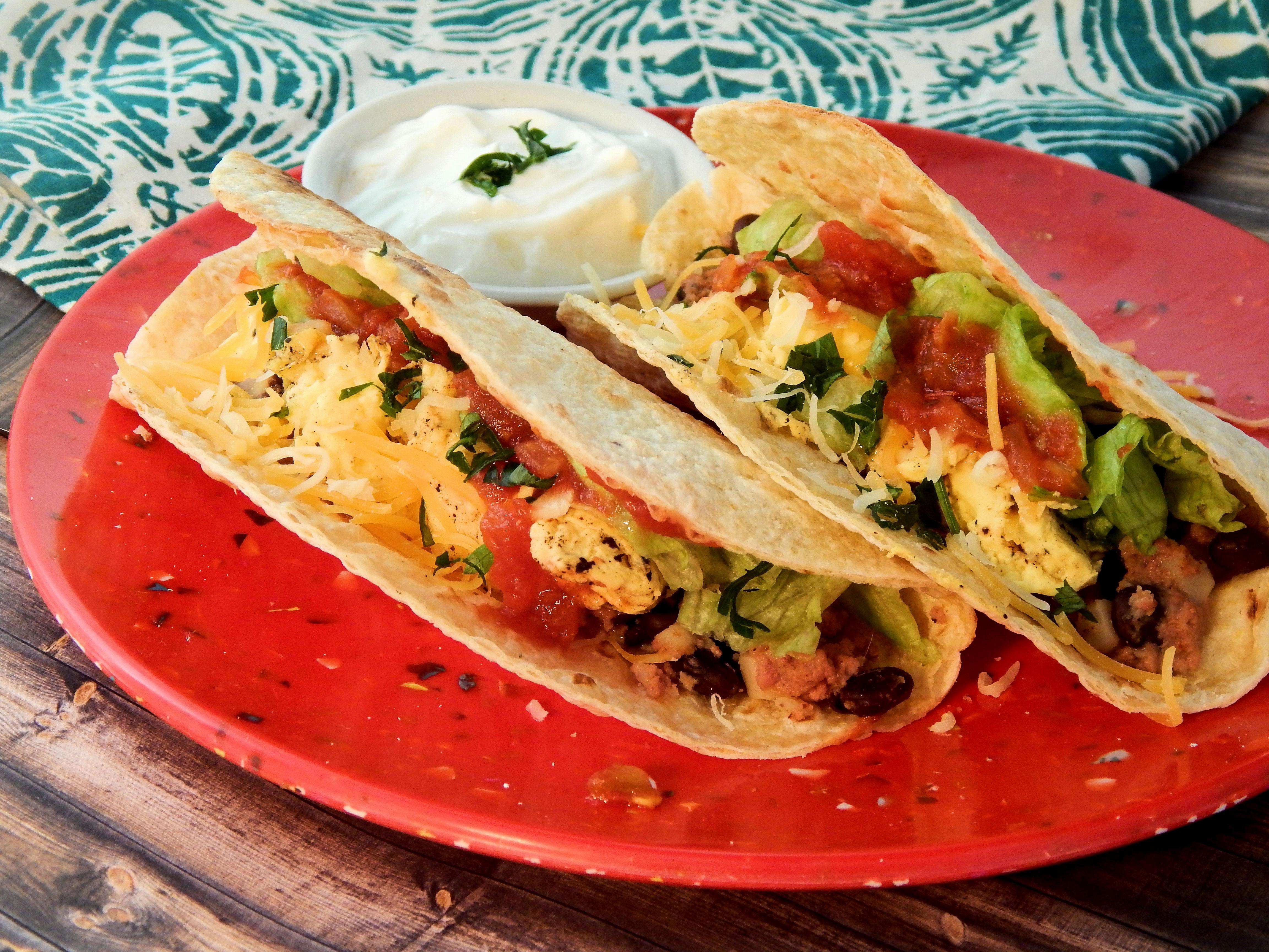 Corned Beef Hash Breakfast Tacos