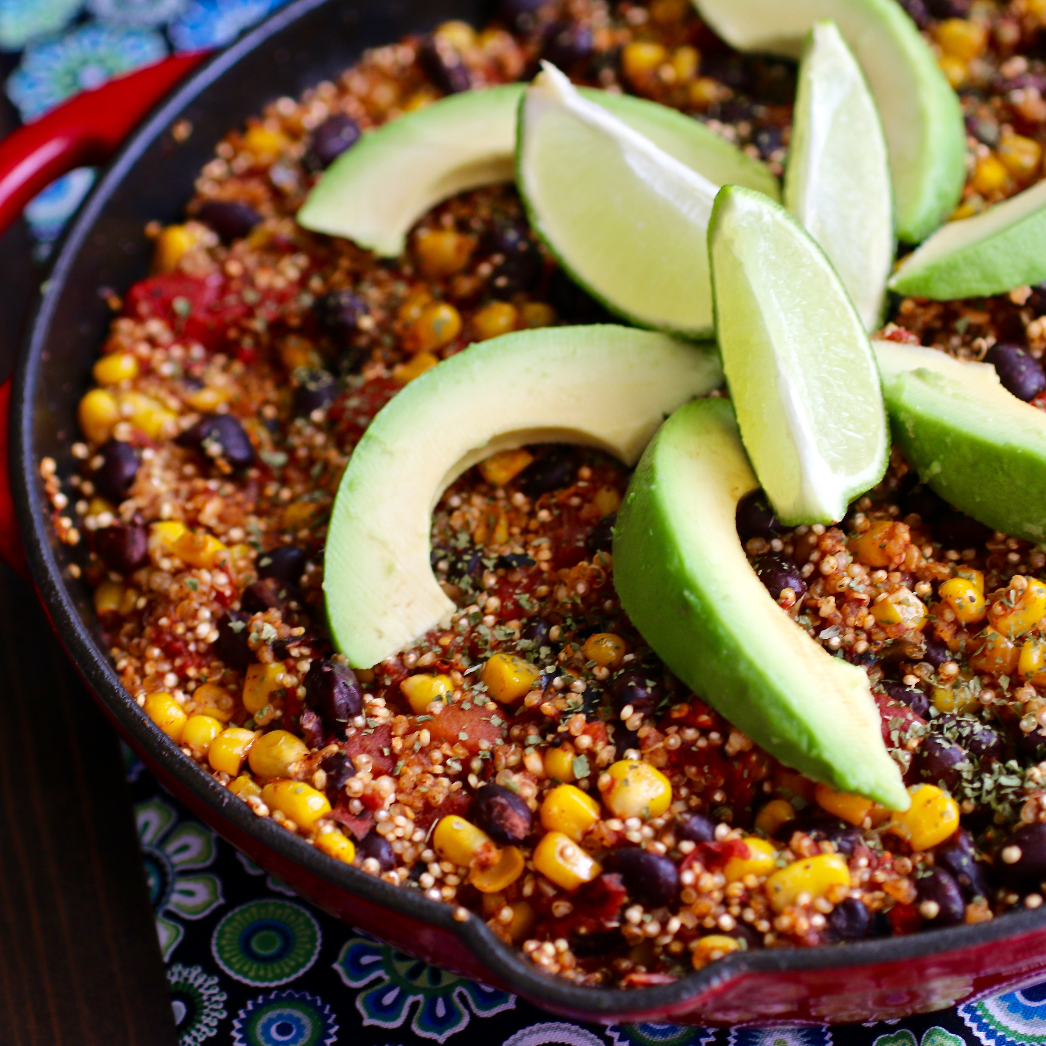 One Skillet Mexican Quinoa My Hot Southern Mess