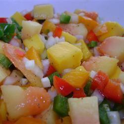 Fresh Mango Papaya Salsa