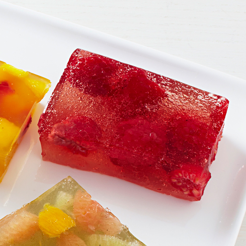 Sparkling Raspberry Jello Jigglers EatingWell Test Kitchen