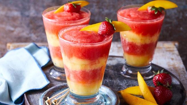 Virgin Layered Strawberry-Mango Margaritas Allrecipes Trusted Brands