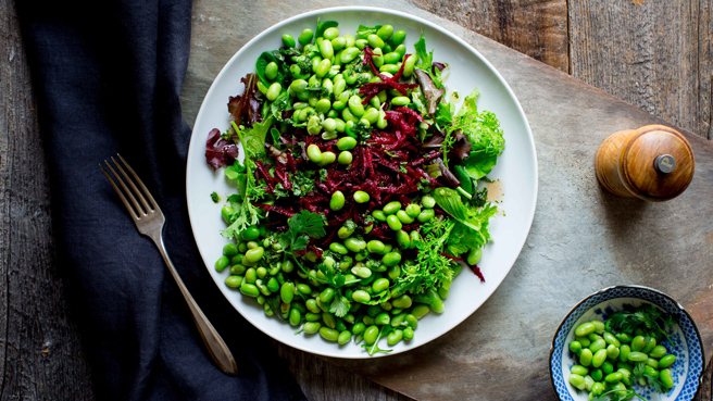 Green Salad with Edamame & Beets Trusted Brands