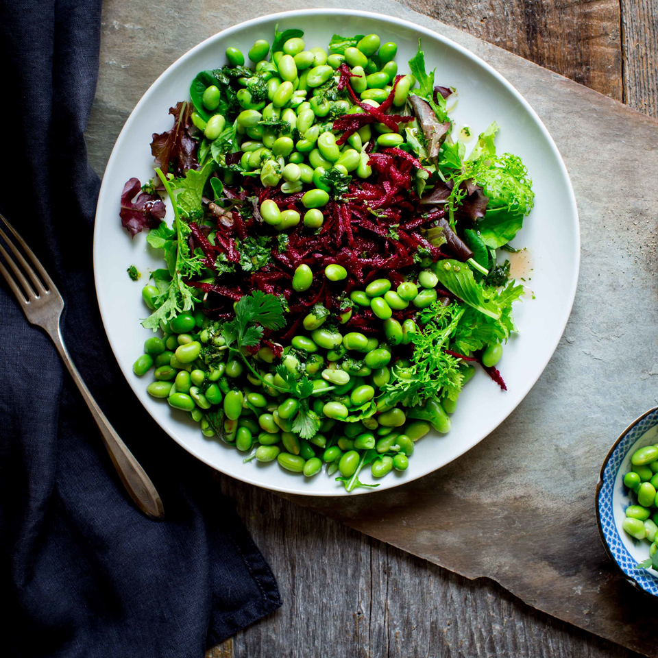 This big salad is a feast for the eyes and an everyday way to incorporate nutrient-rich beets and plant-based protein from edamame (green soybeans). If you're not a fan of cilantro, mix in freshly chopped basil or dill instead.