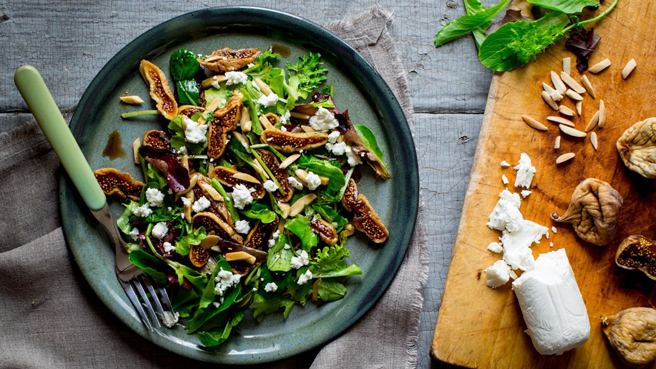 Fig & Goat Cheese Salad Trusted Brands
