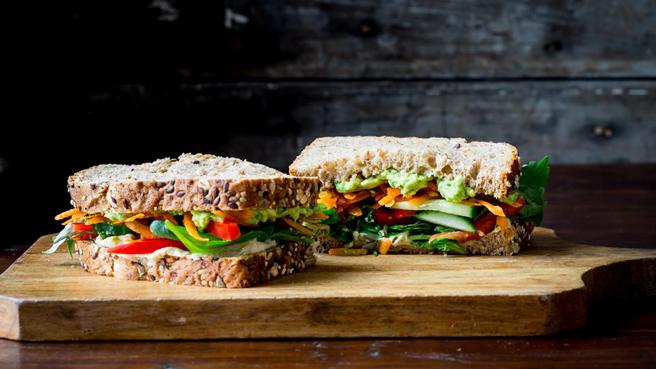 Veggie & Hummus Sandwich Trusted Brands