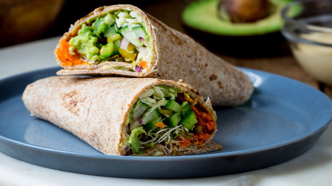 Whole-Wheat Veggie Wrap Trusted Brands