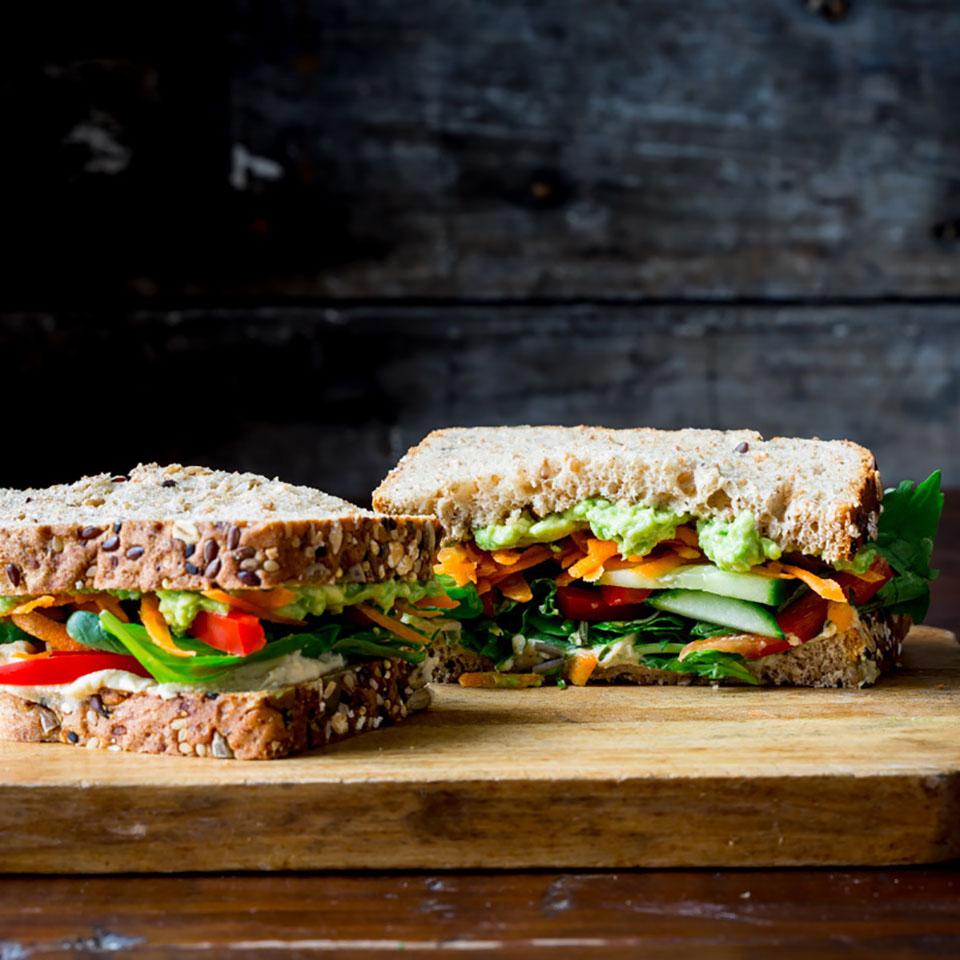 Veggie & Hummus Sandwich Katie Webster