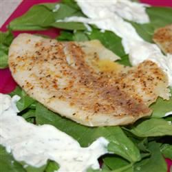 Tilapia with Creamy Sauce