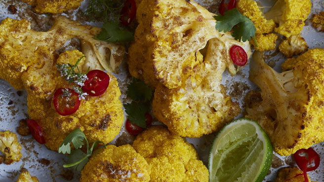 Coconut Roasted Cauliflower with Cilantro and Lime Allrecipes Trusted Brands