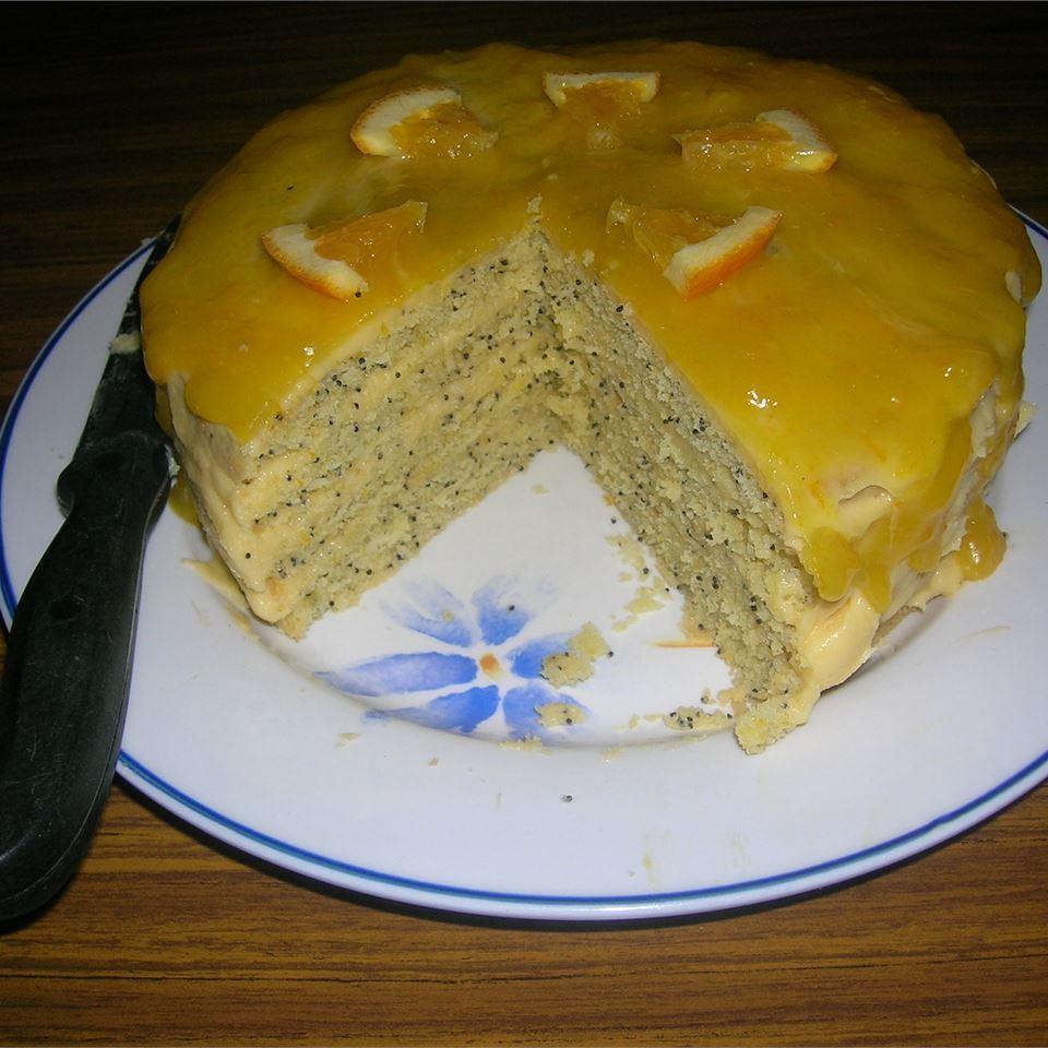 Poppy Seed Torte with Orange Glaze