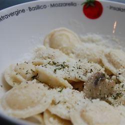 Angel's Ravioli Alfredo with Mushrooms