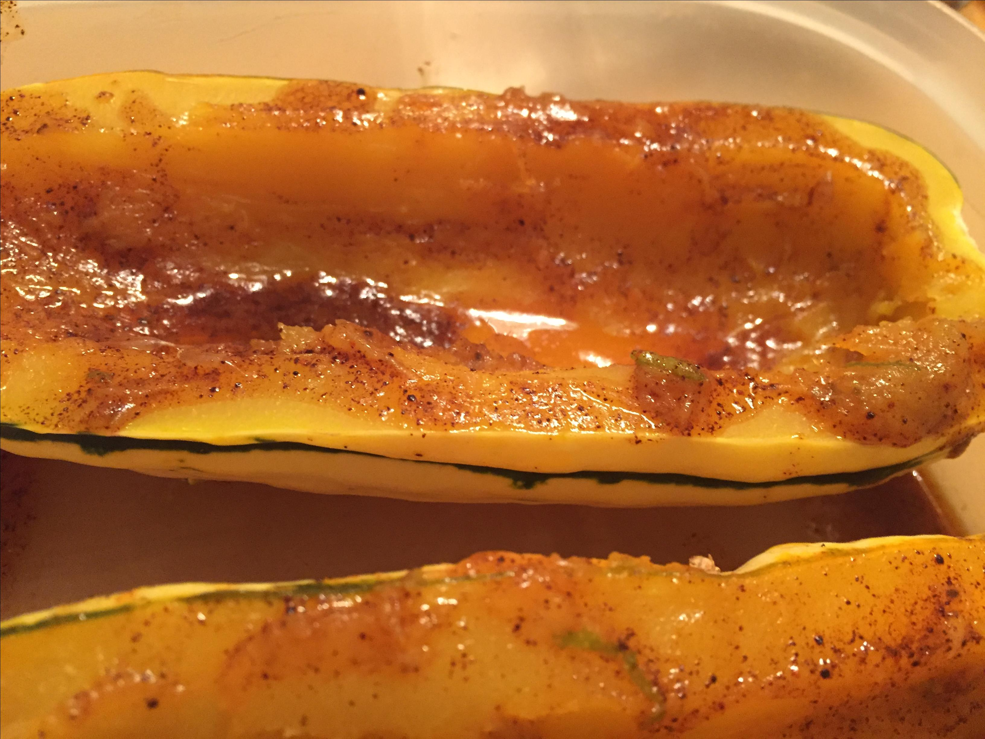 Baked Delicata Squash with Lime Butter Karla Marie Dombrock