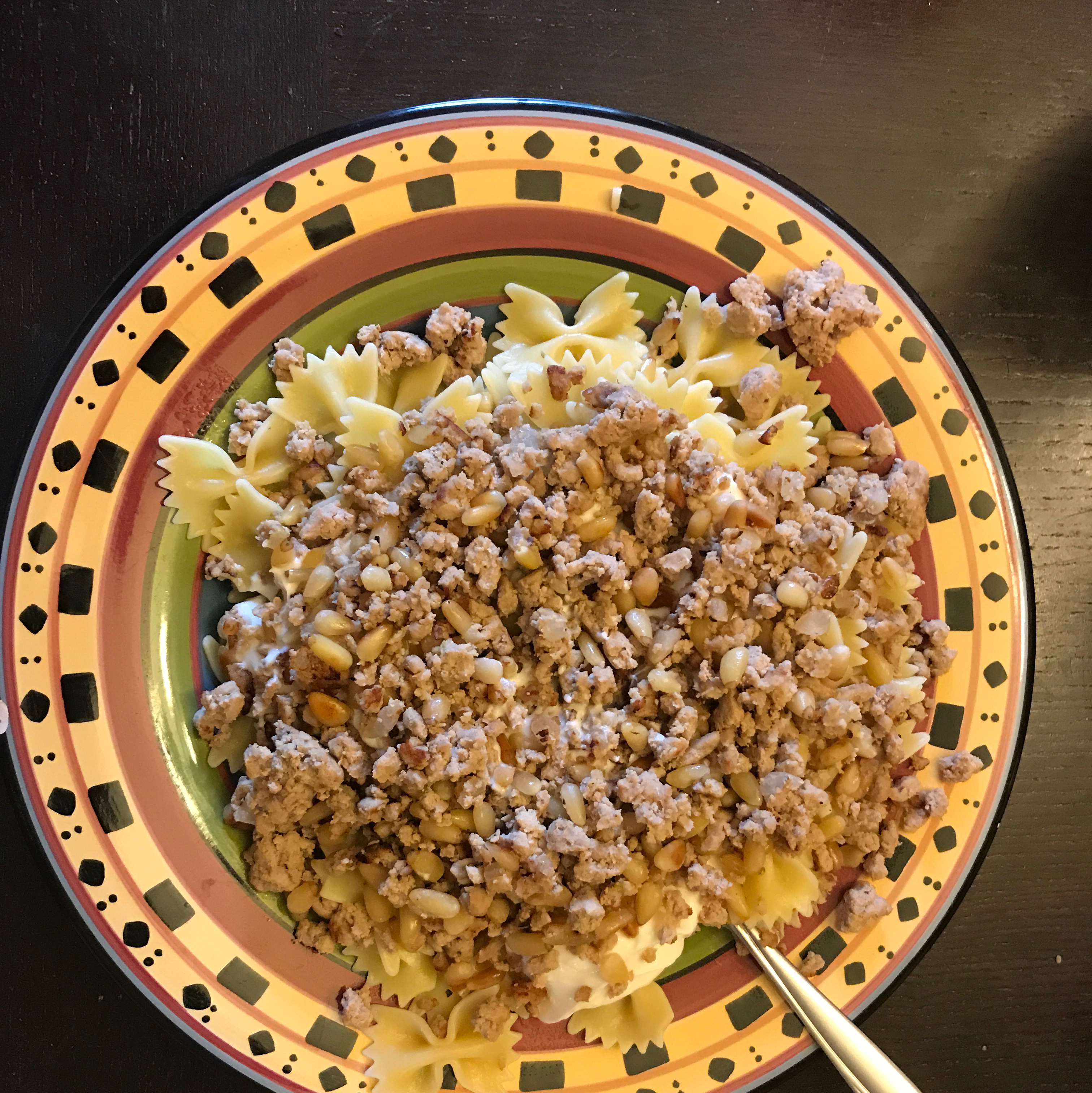 Middle Eastern Pasta With Yogurt and Pine Nuts