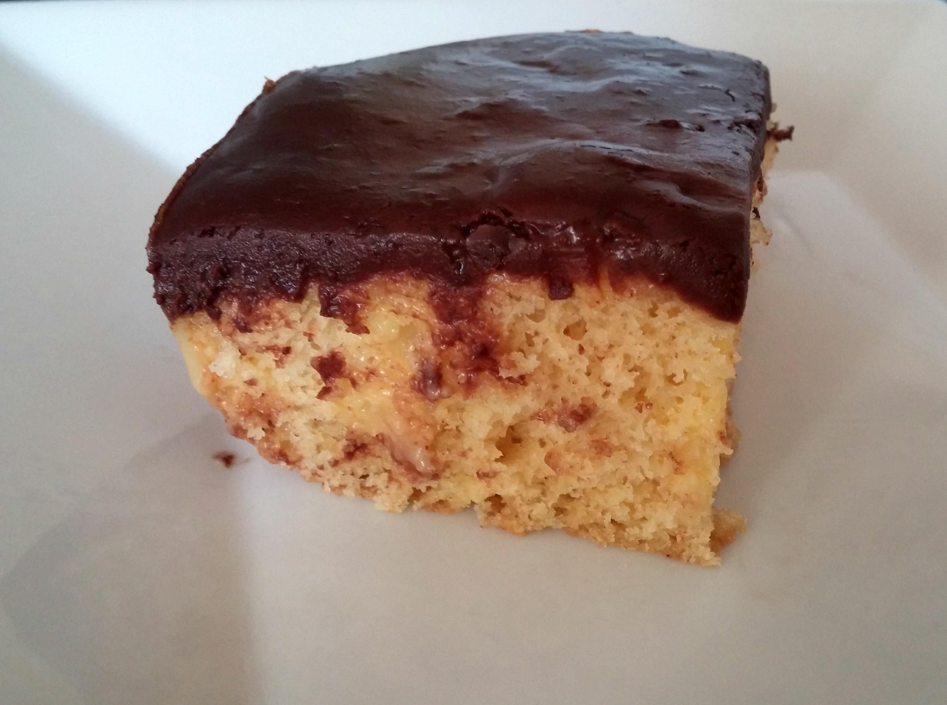Easy Boston Cream Poke Cake