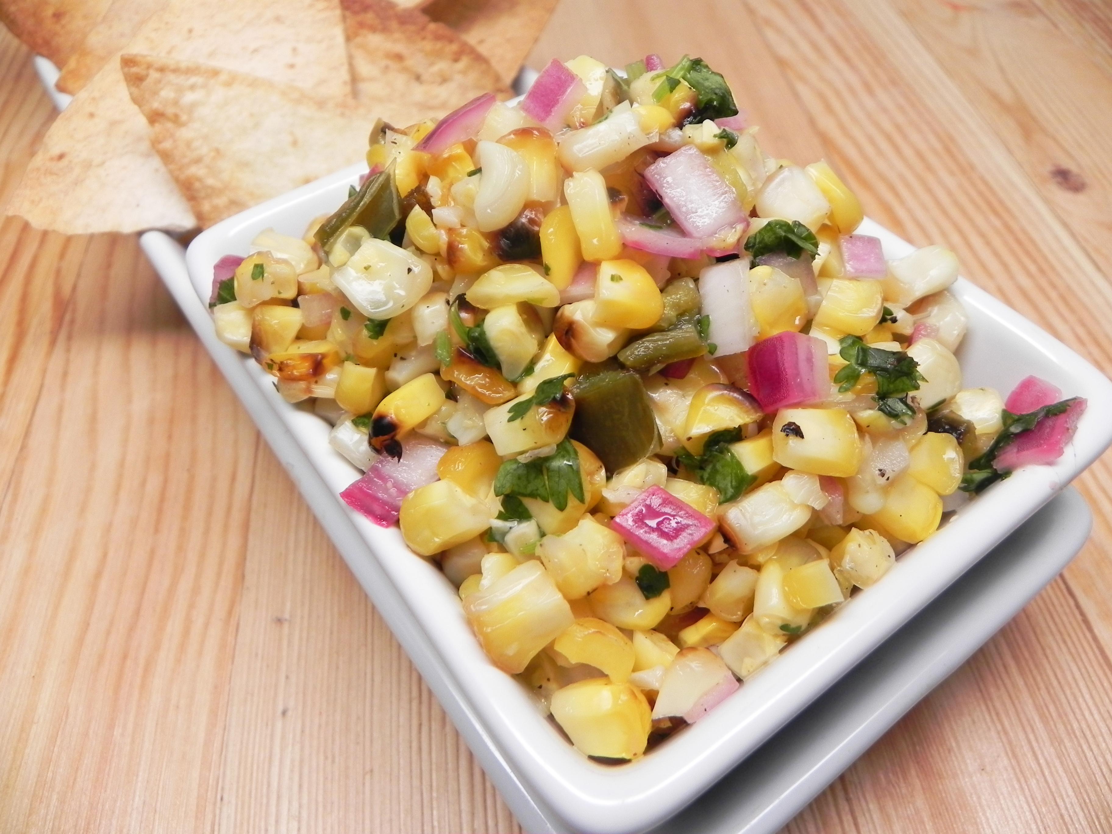 """Roasted"" Corn and Jalapeno Salsa"