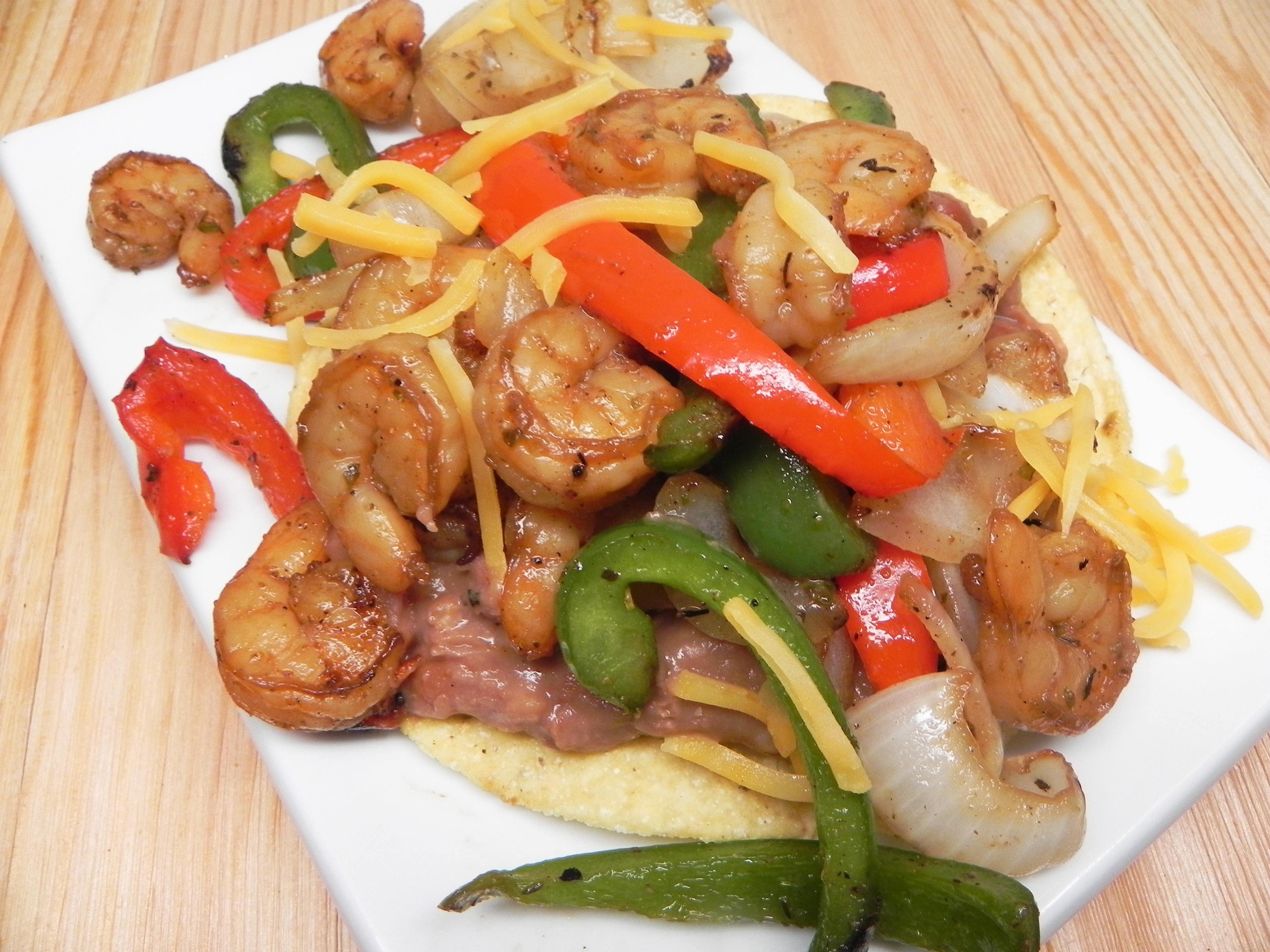 Crunchy Shrimp Fajitas