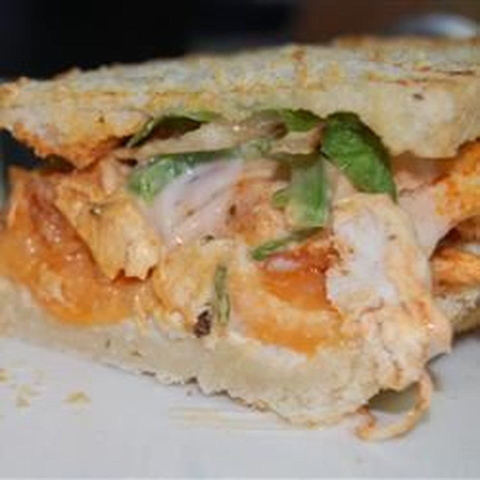 Spicy Buffalo Chicken and Blue Cheese Panini