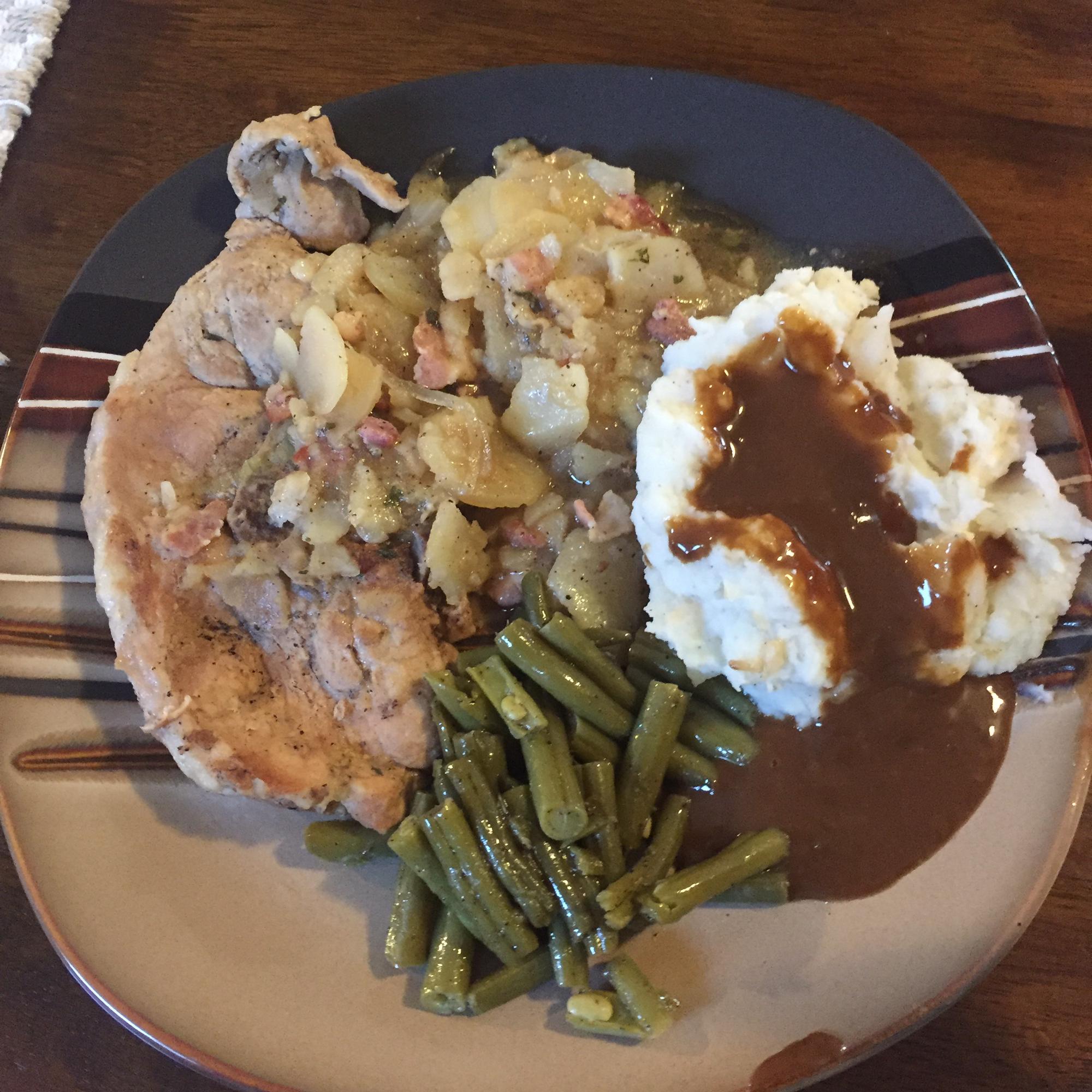 Grandmother's Pork Chop Dinner