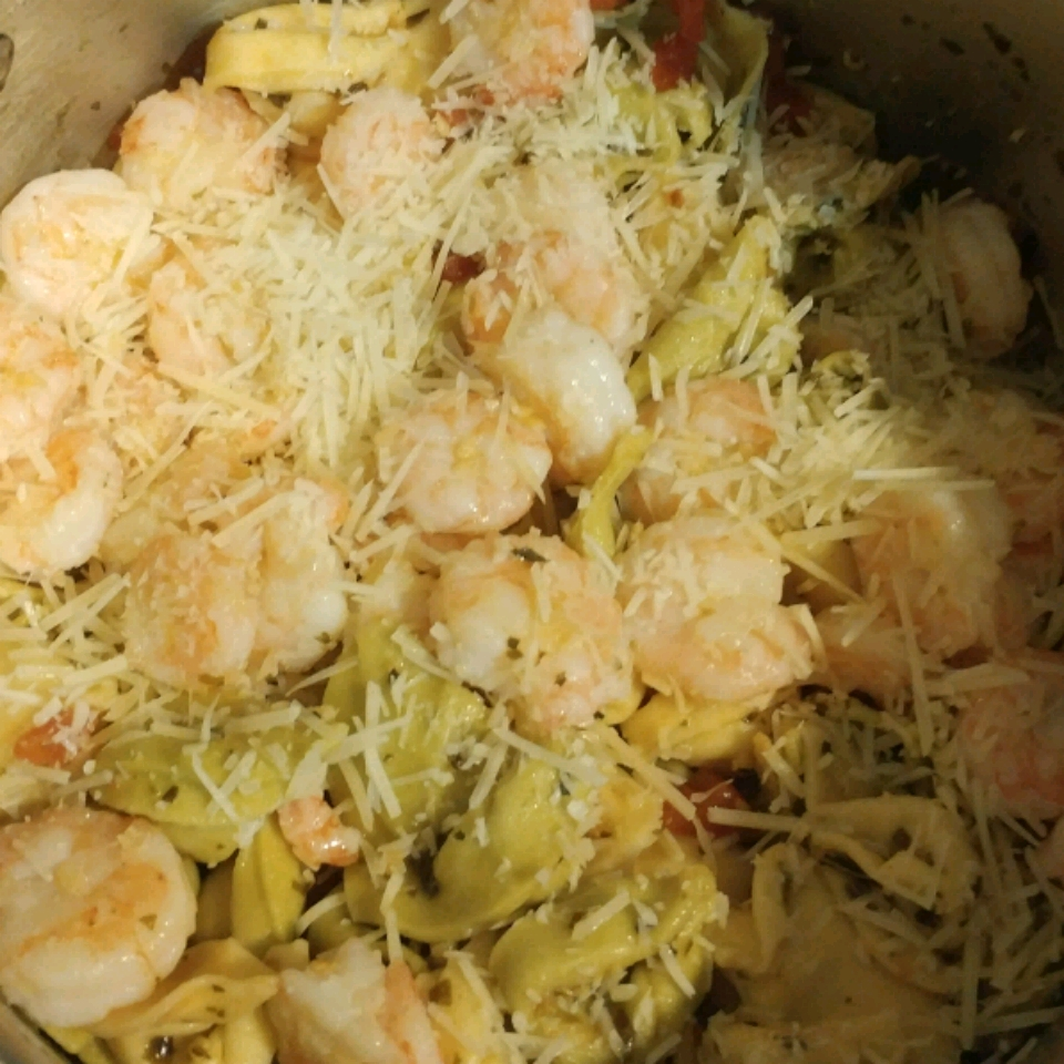 Garlic Shrimp with Three Cheese Tortellini Trent Powell