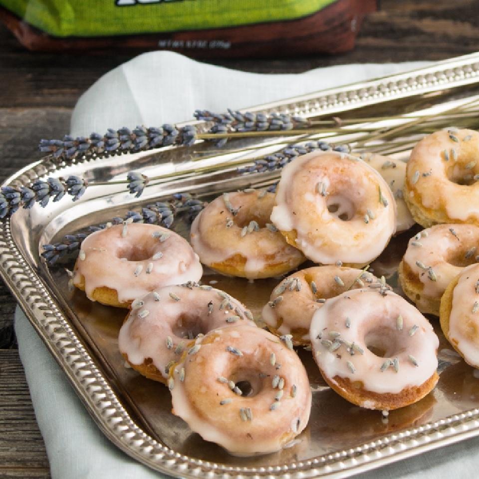 Vanilla-Lavender Mini Donuts