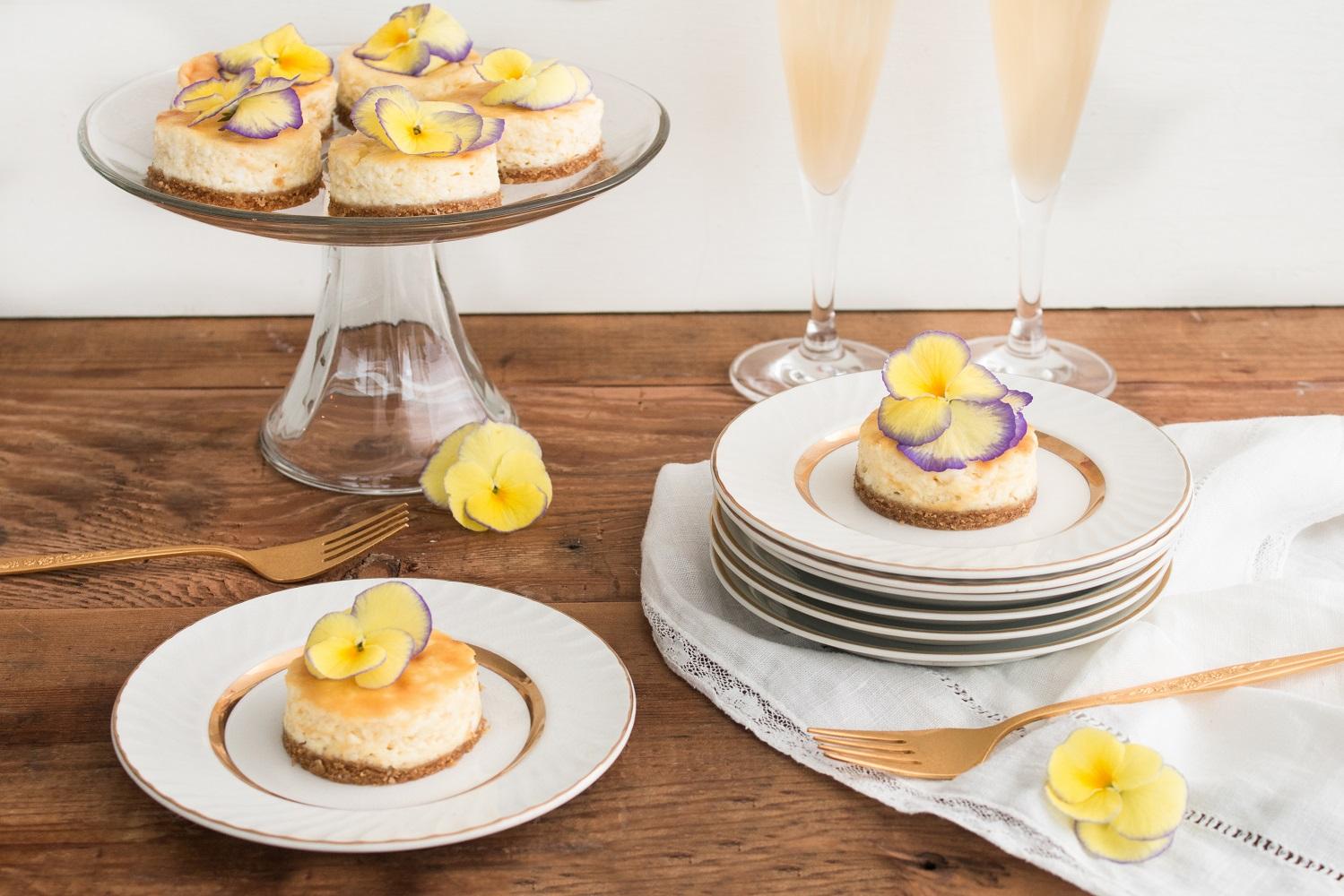 Mini Lemon Mascarpone Cheesecakes
